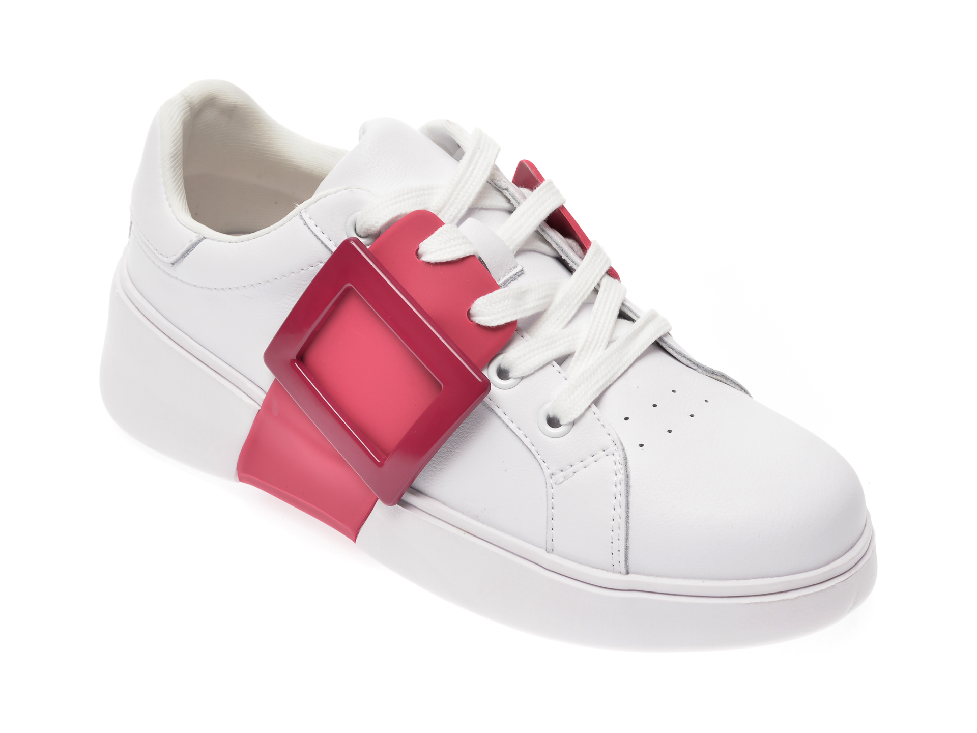 Pantofi sport FLAVIA PASSINI albi, 262, din piele naturala