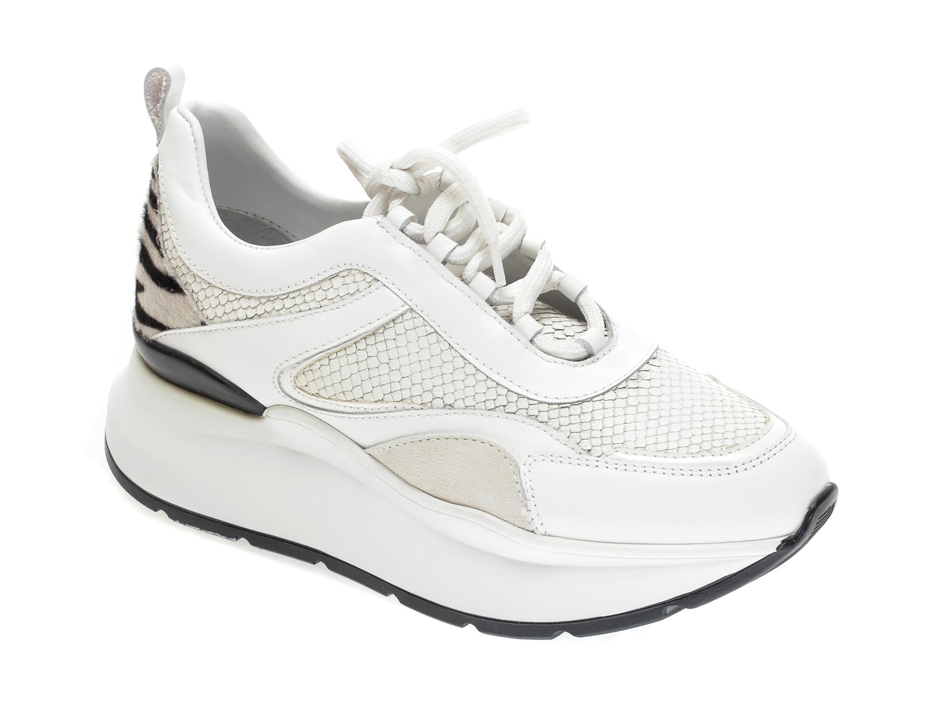 Pantofi sport FLAVIA PASSINI albi, 2767, din piele naturala imagine