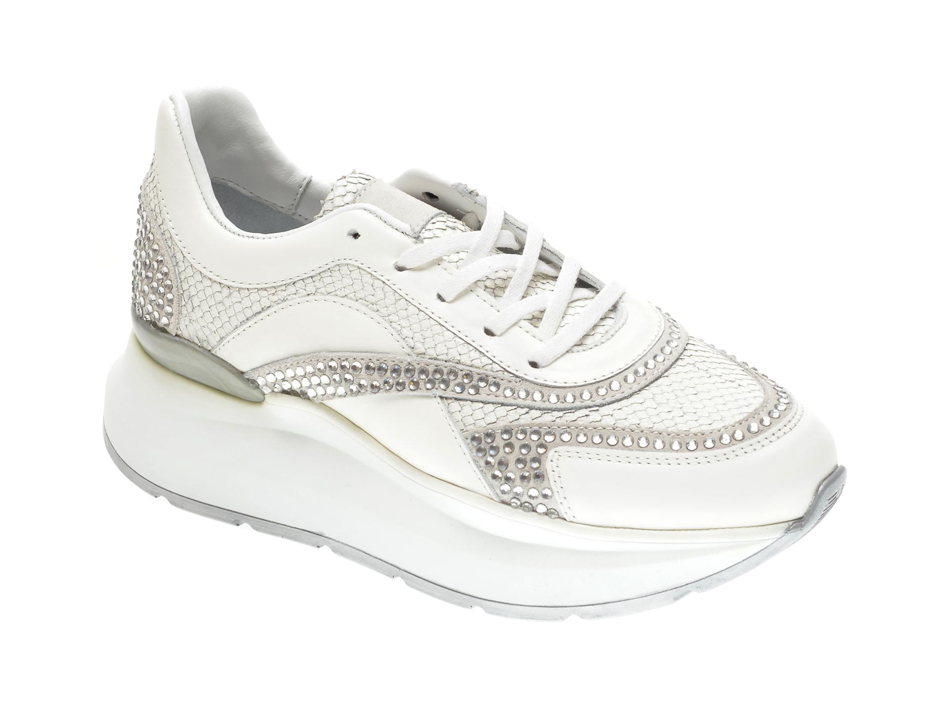 Pantofi sport FLAVIA PASSINI albi, 28121, din piele naturala imagine