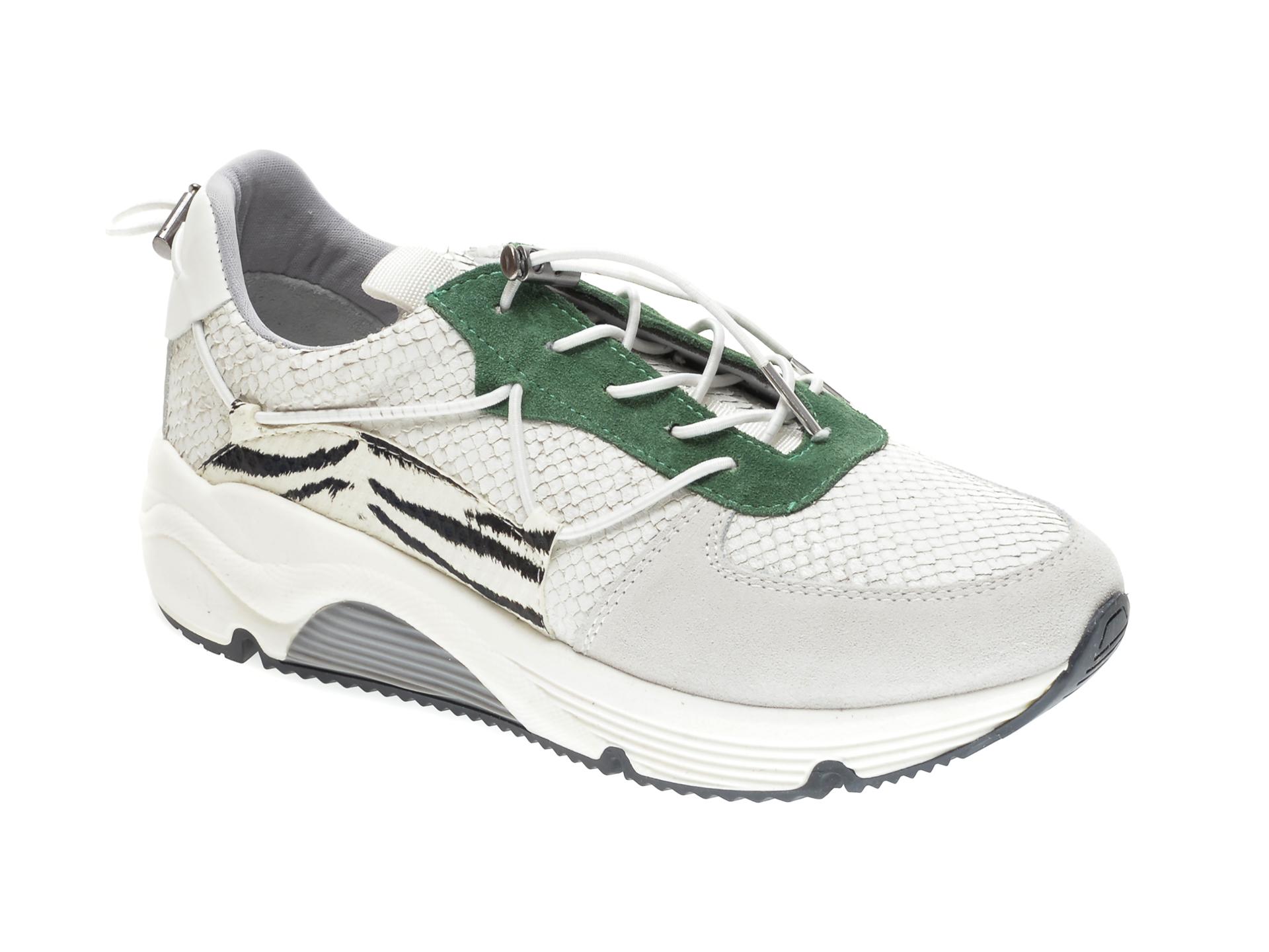 Pantofi sport FLAVIA PASSINI albi, 2934, din piele naturala