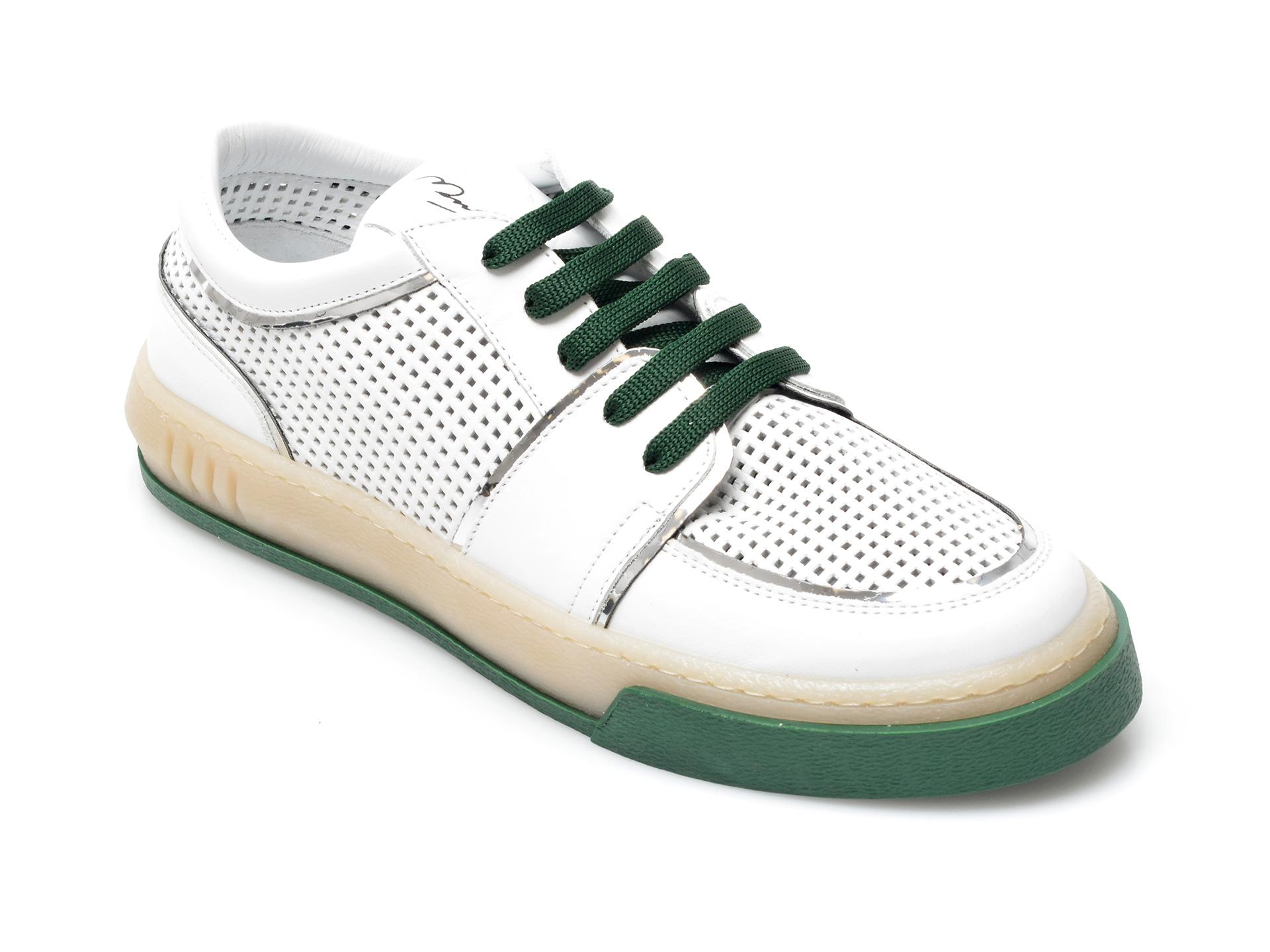 Pantofi sport FLAVIA PASSINI albi, 44168, din piele naturala imagine otter.ro 2021