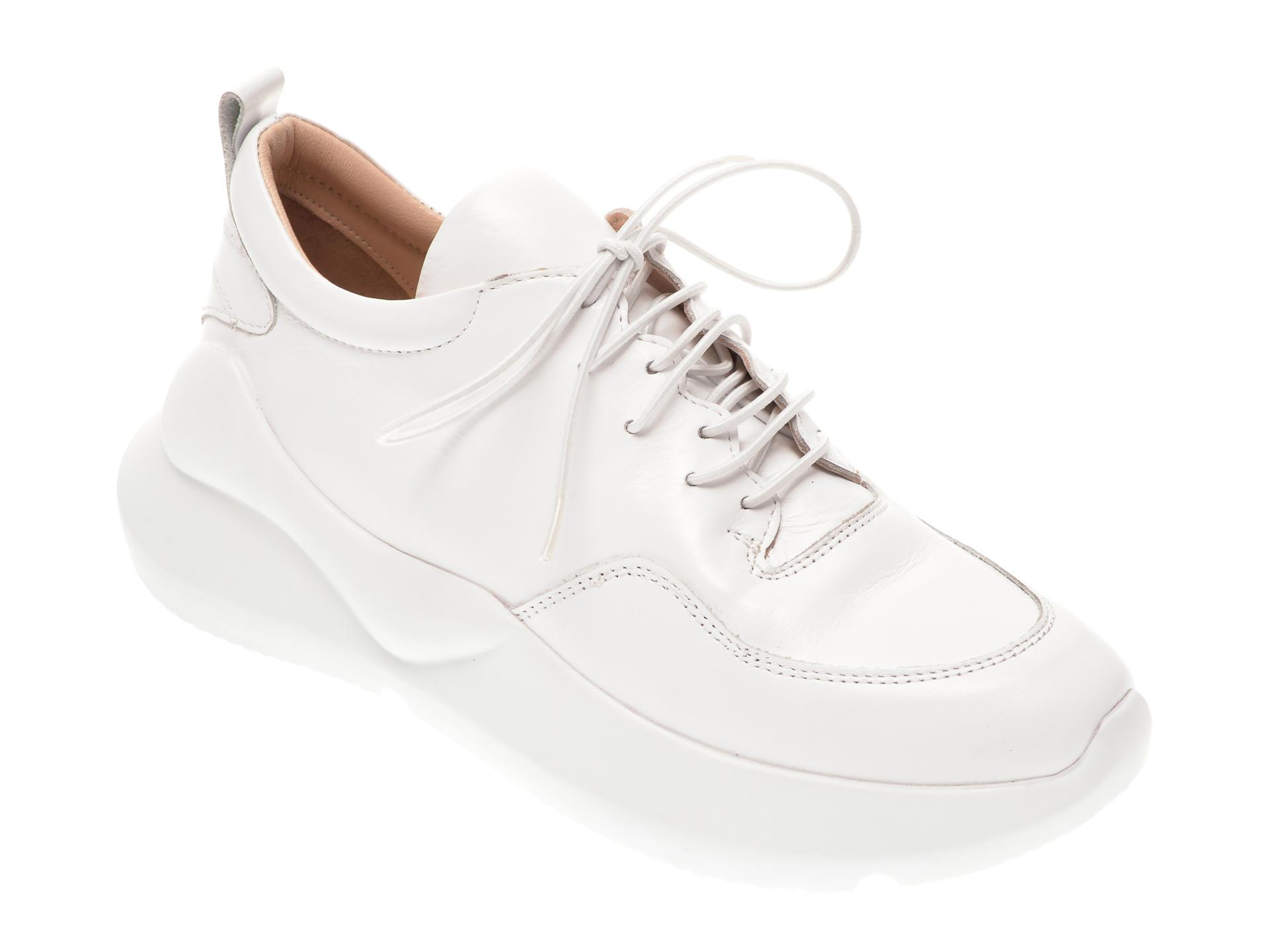 Pantofi sport FLAVIA PASSINI albi, 471591, din piele naturala