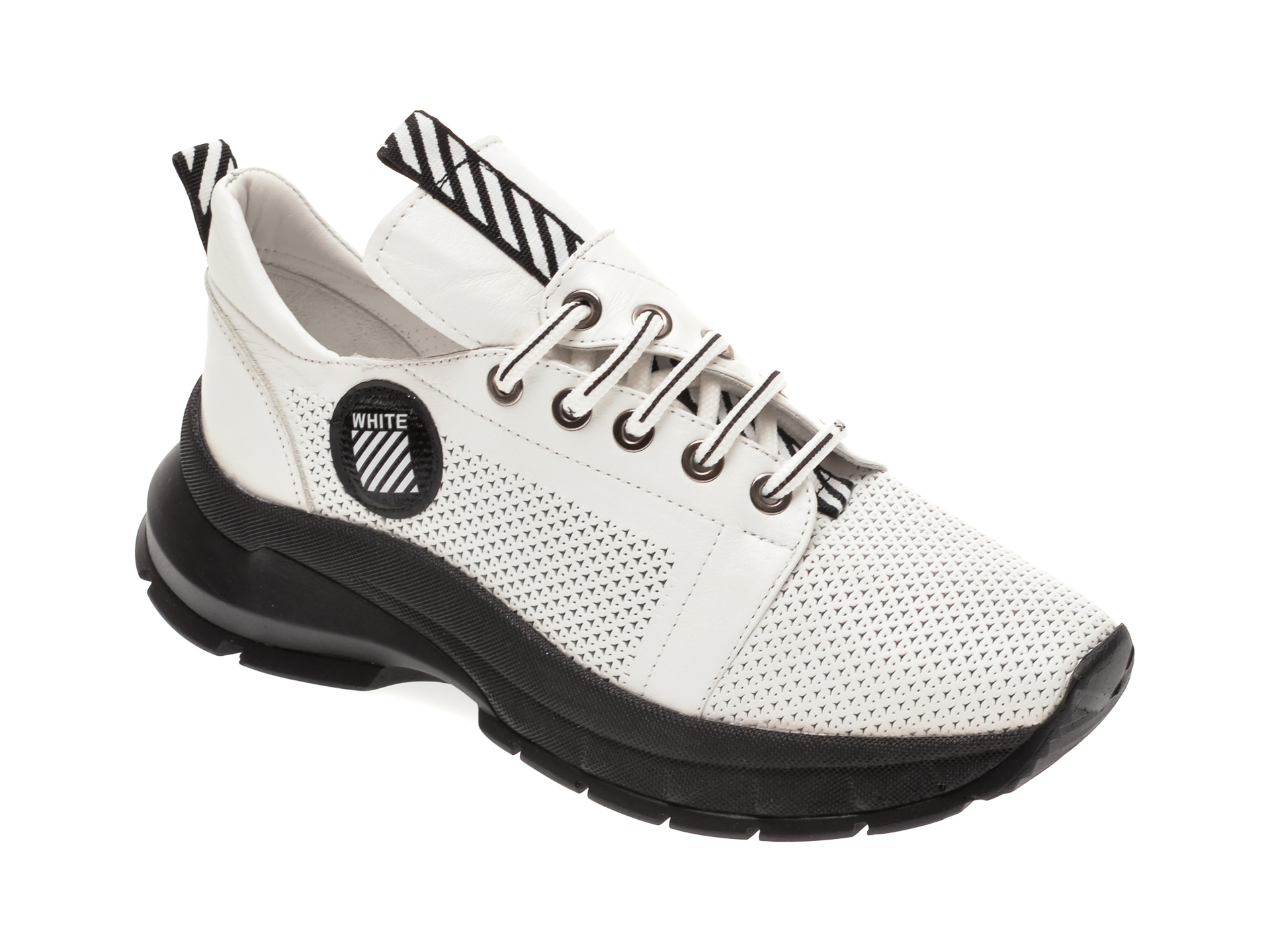Pantofi sport FLAVIA PASSINI albi, 6000216, din piele naturala