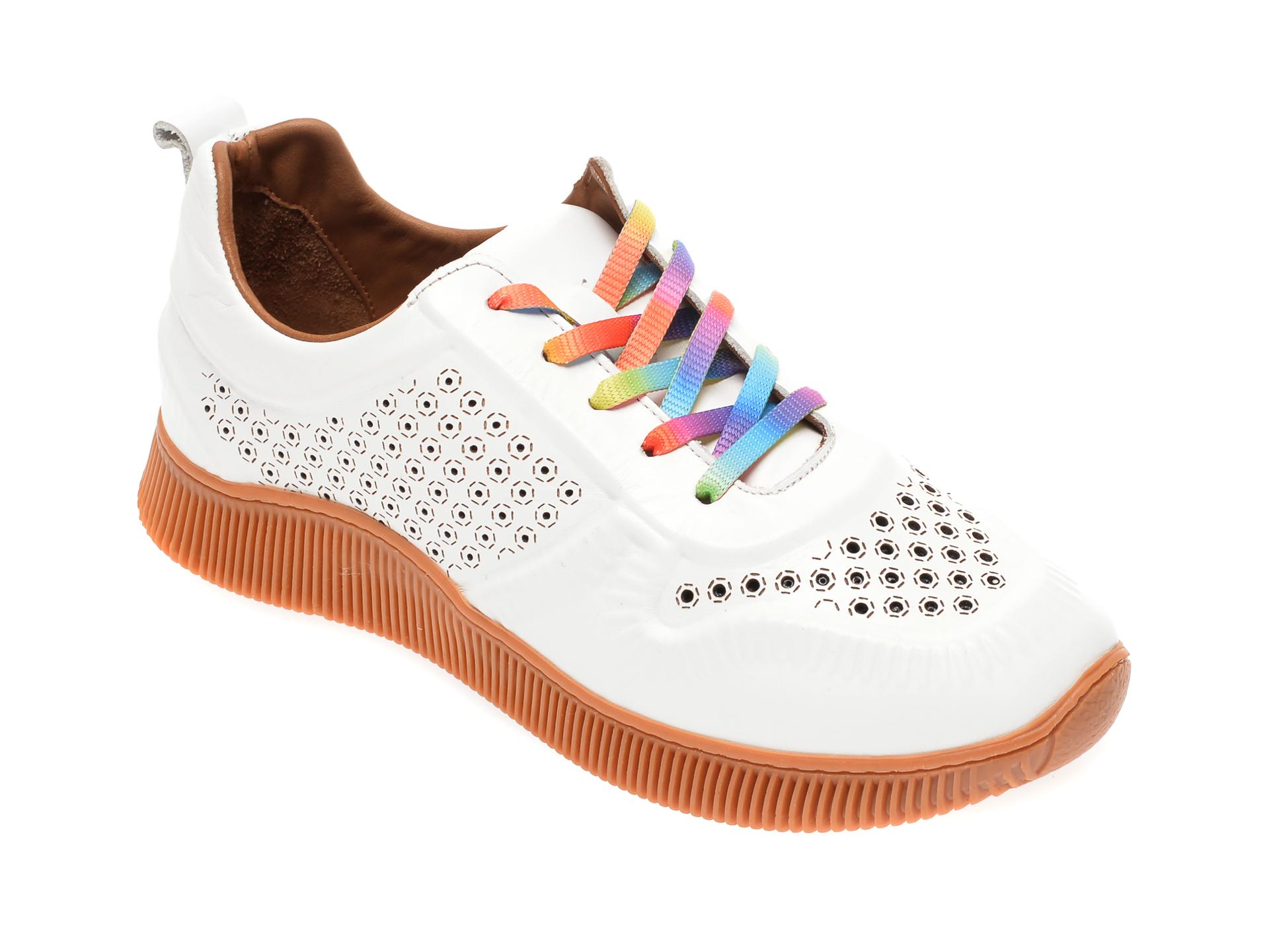 Pantofi sport FLAVIA PASSINI albi, 7763547, din piele naturala