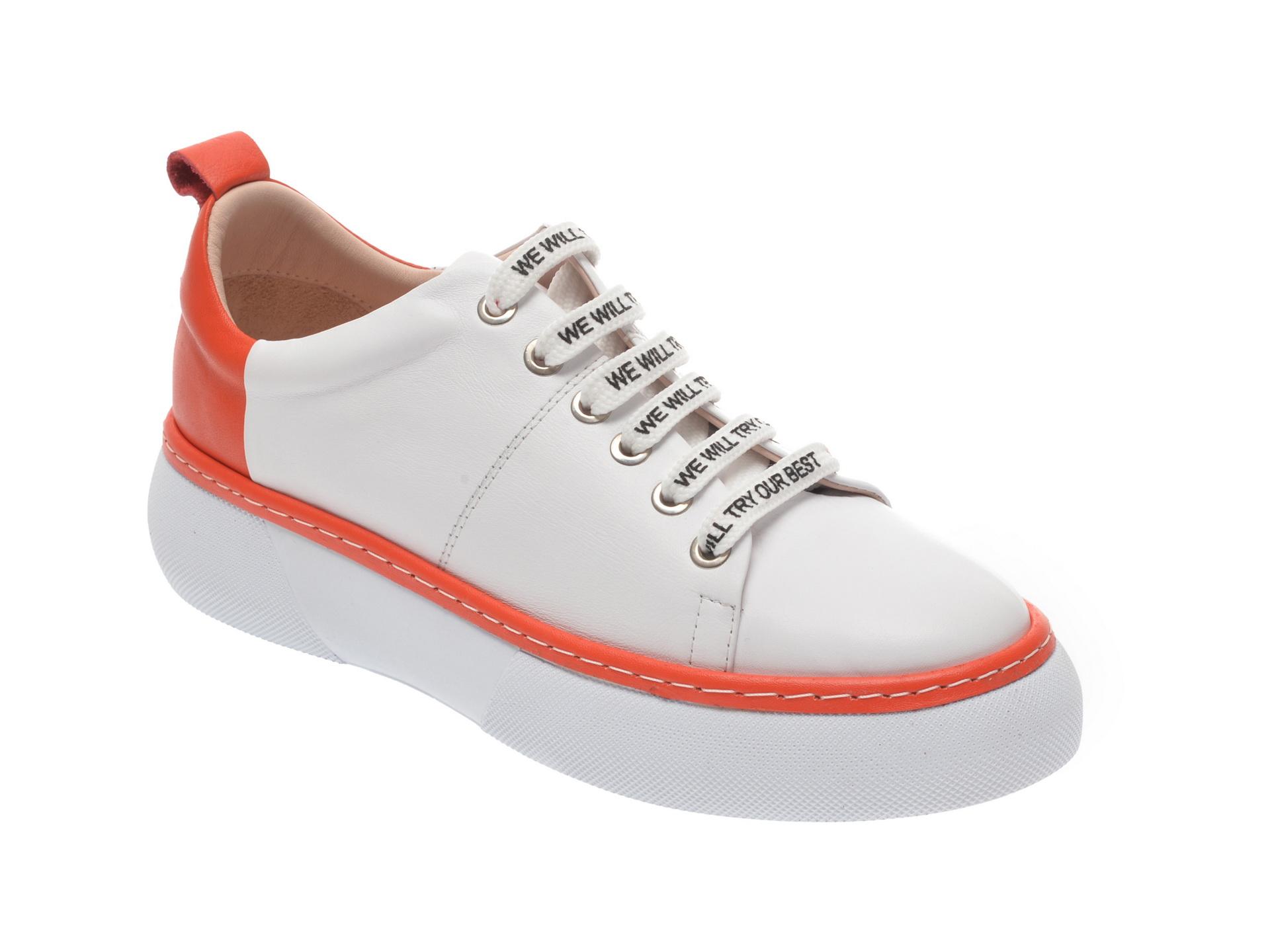 Pantofi sport FLAVIA PASSINI albi, 826403, din piele naturala imagine
