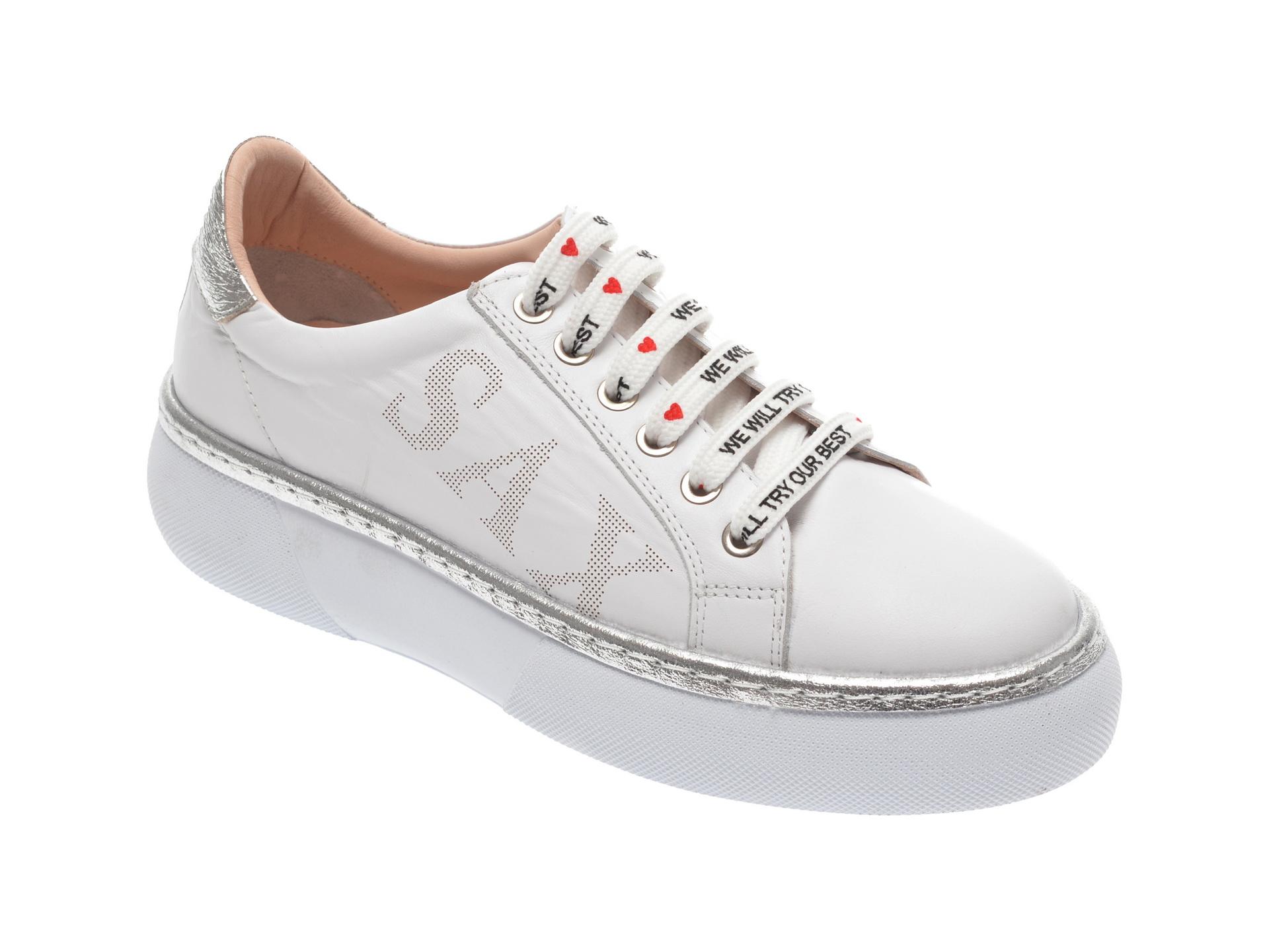 Pantofi sport FLAVIA PASSINI albi, 826409, din piele naturala