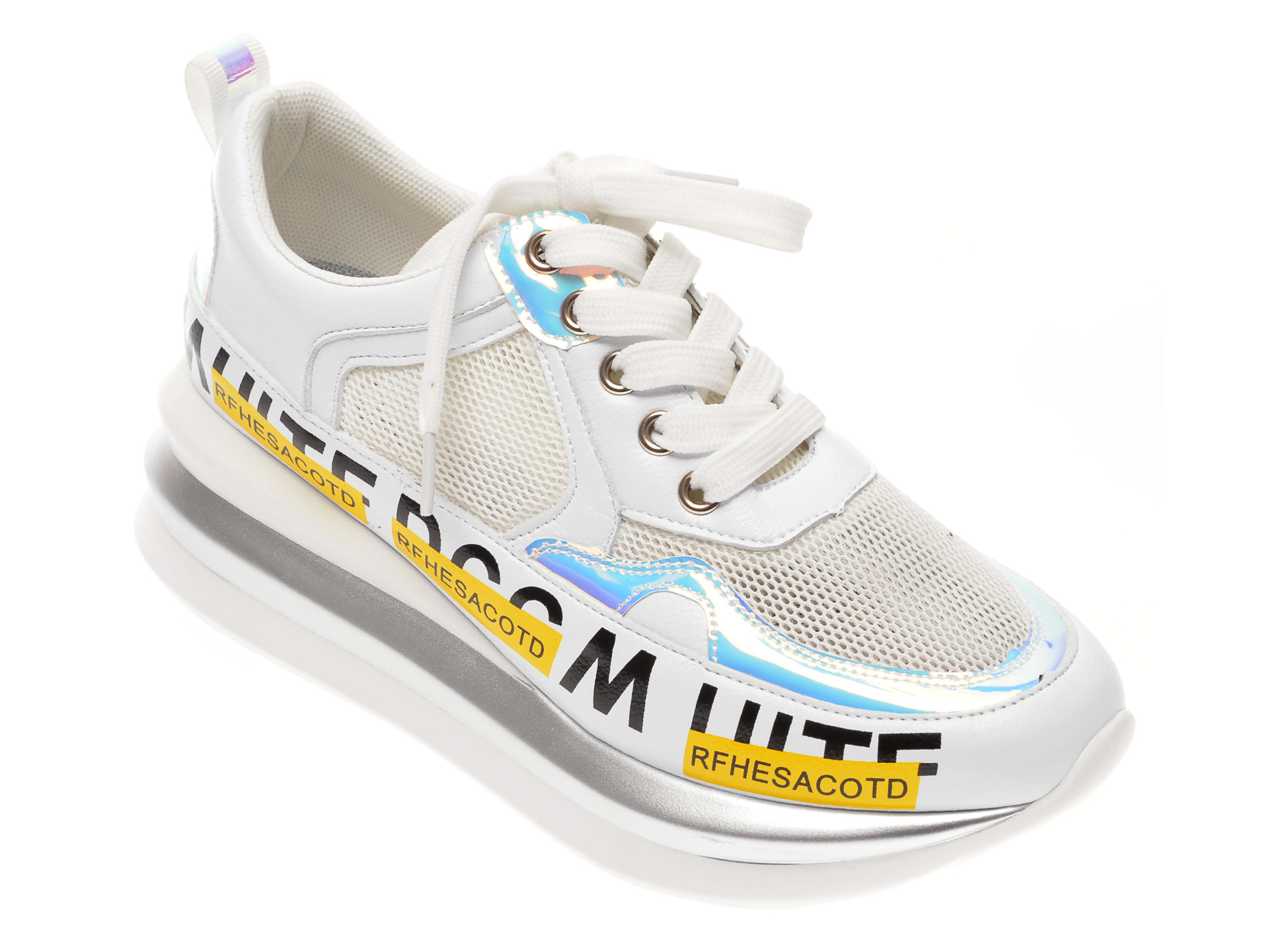 Pantofi sport FLAVIA PASSINI albi, 8820, din piele ecologica