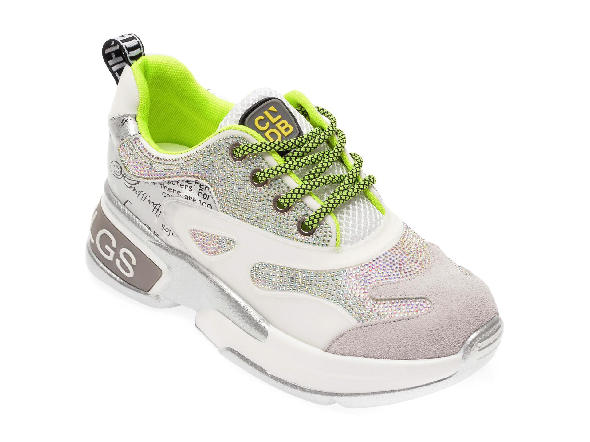 Pantofi sport FLAVIA PASSINI albi, 90086, din piele ecologica
