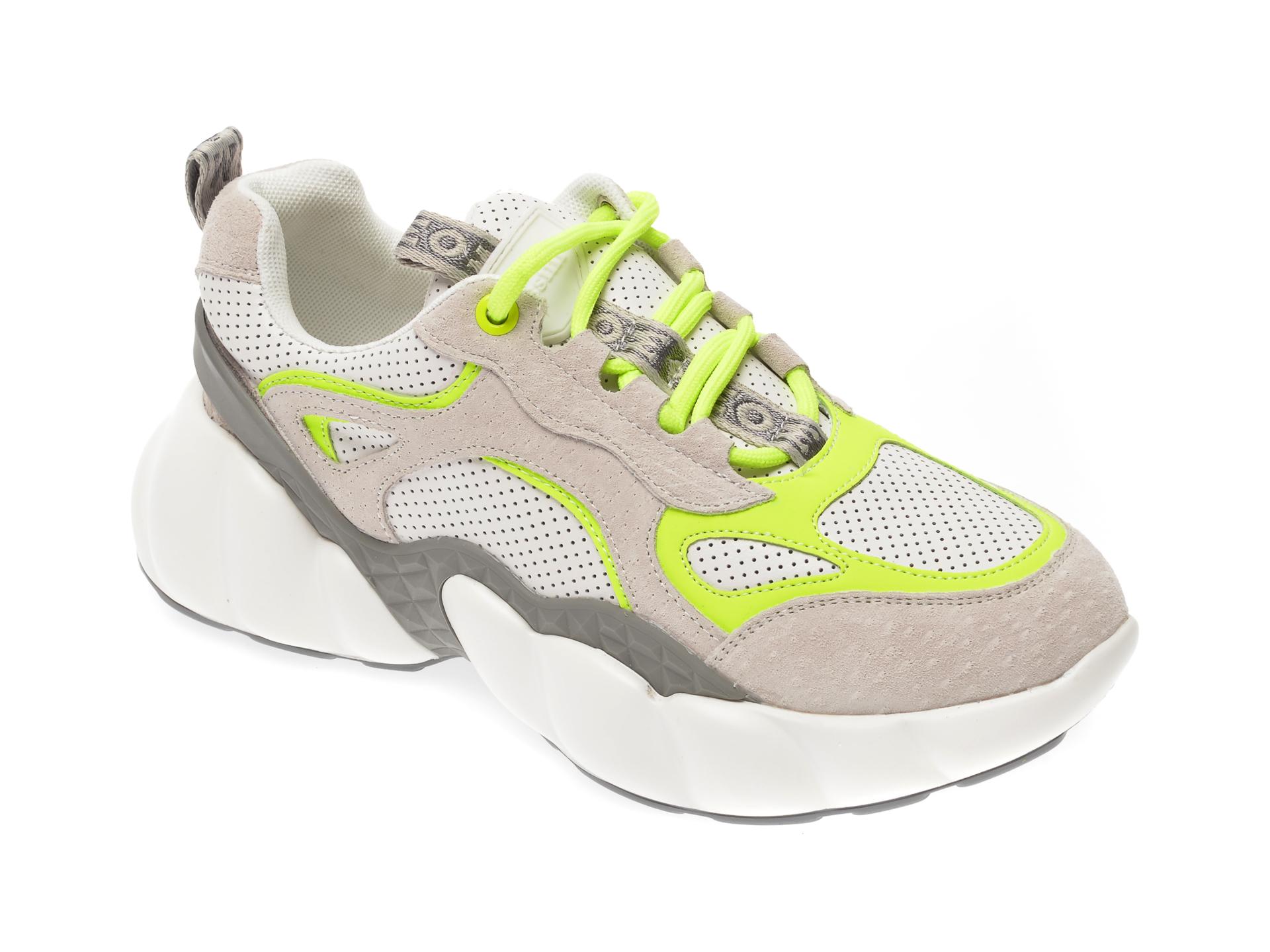 Pantofi sport FLAVIA PASSINI albi, YC19838, din piele naturala