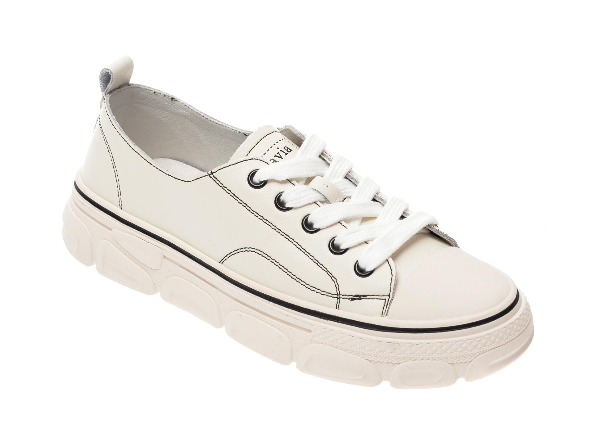 Pantofi sport FLAVIA PASSINI albi, YC8002T, din piele naturala