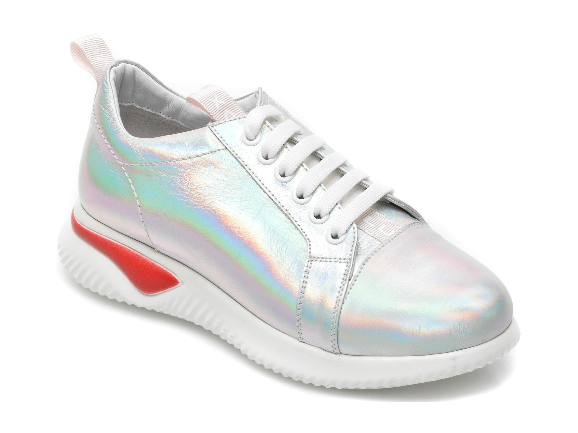 Pantofi sport FLAVIA PASSINI argintii, 2469G, din piele naturala imagine otter.ro