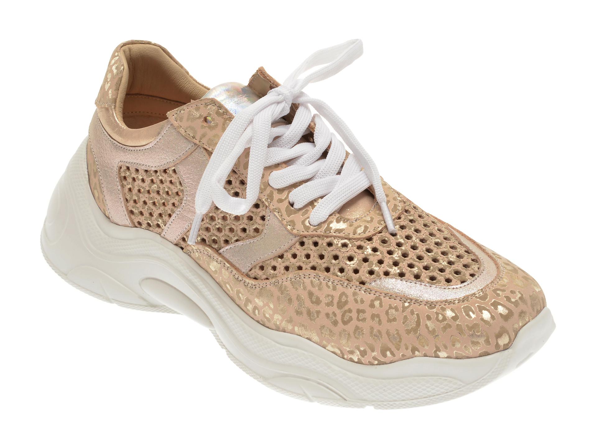 Pantofi sport FLAVIA PASSINI bej, 135P79, din piele naturala imagine