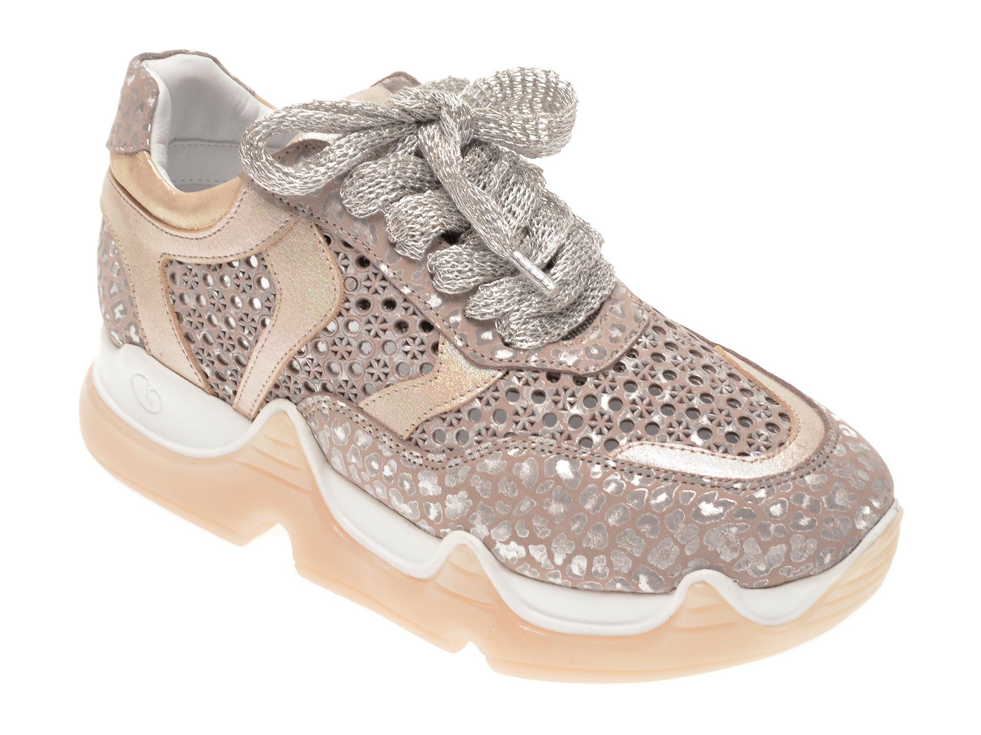 Pantofi sport FLAVIA PASSINI bej, 135P83, din piele naturala New