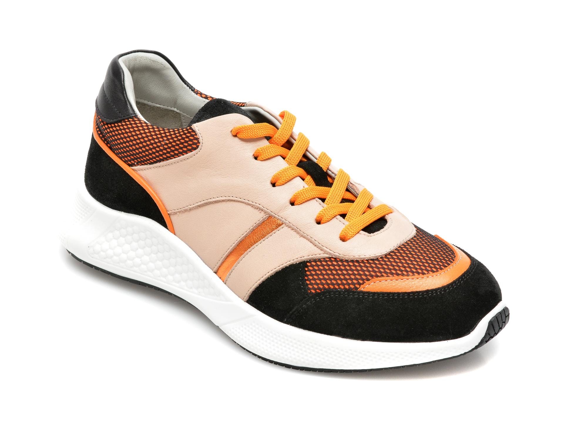 Pantofi sport FLAVIA PASSINI bej, 8701027, din piele naturală imagine otter.ro