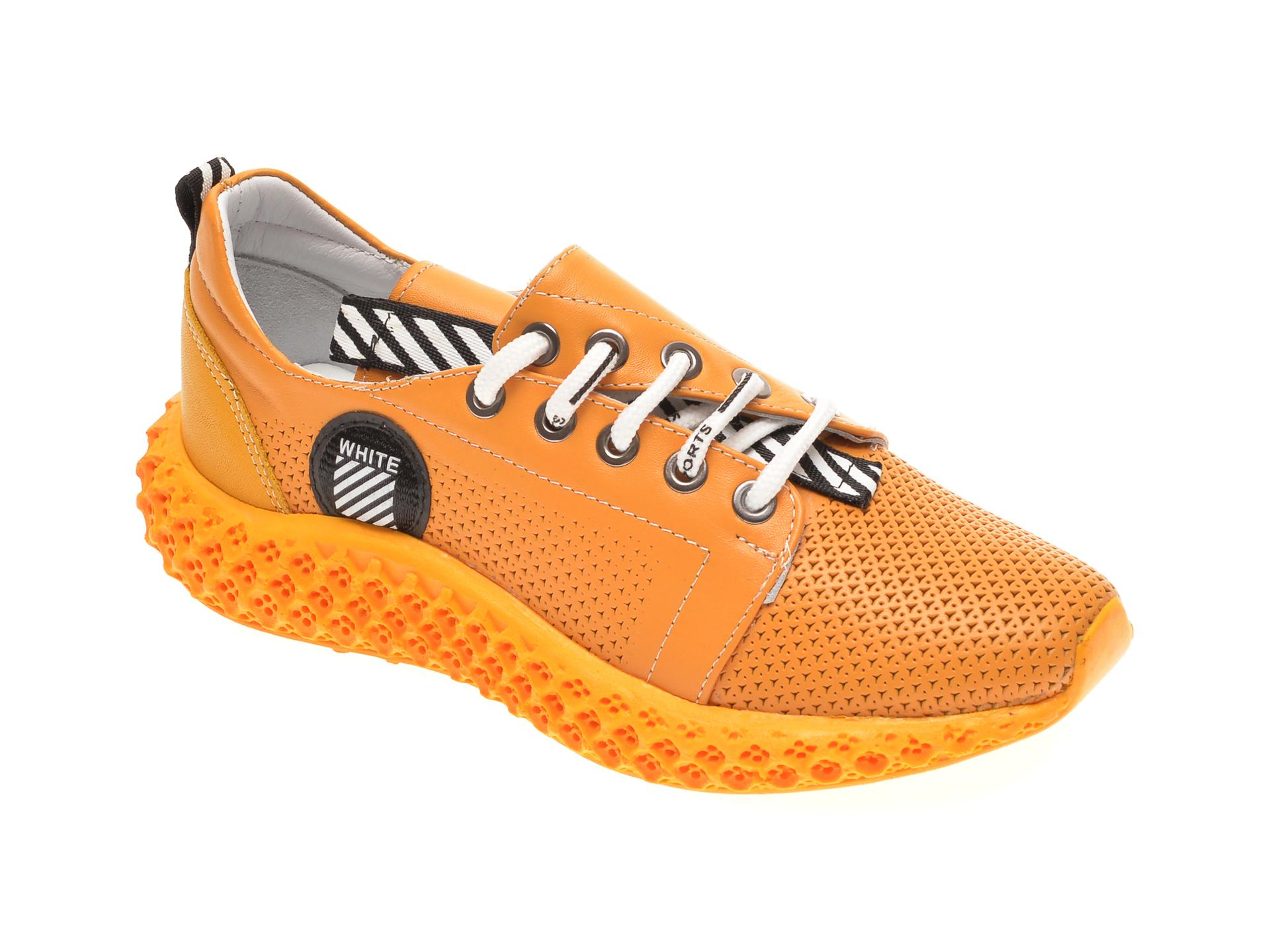 Pantofi sport FLAVIA PASSINI galbeni, 022600, din piele naturala