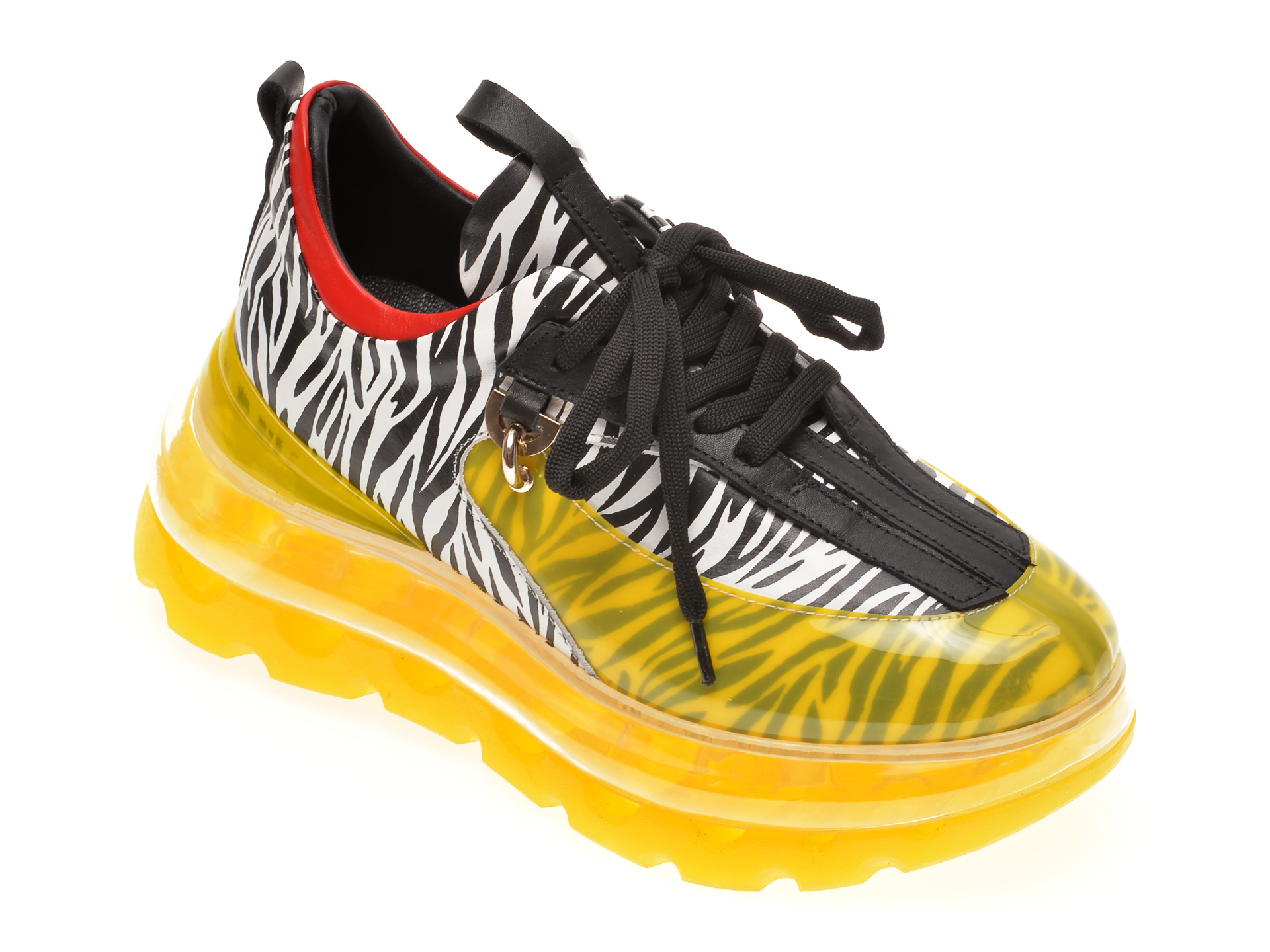 Pantofi sport FLAVIA PASSINI galbeni, 135P47, din piele naturala