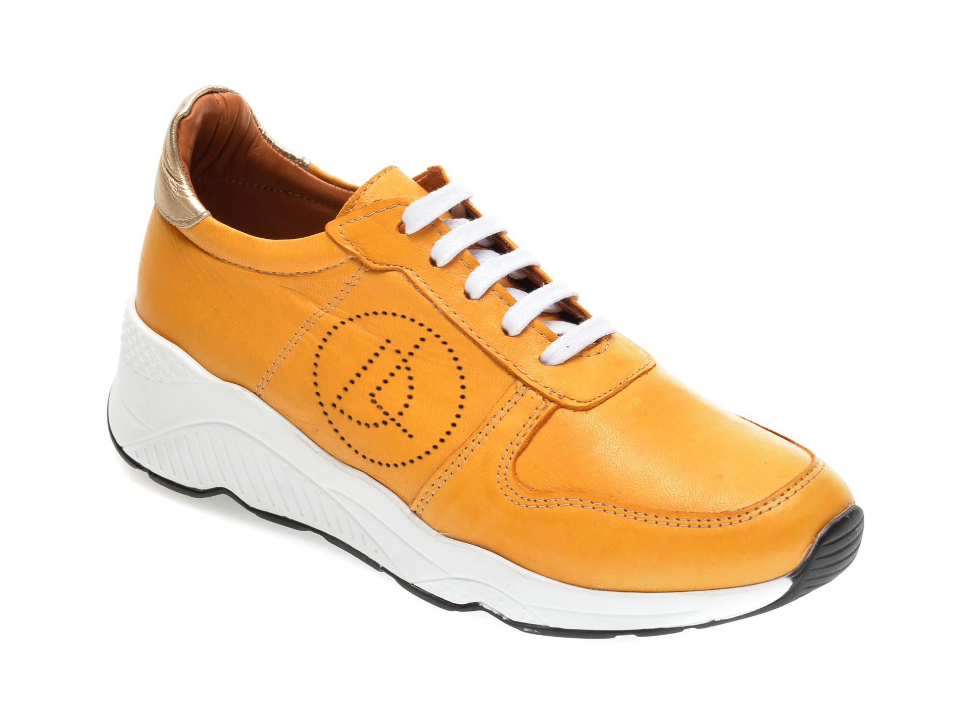 Pantofi sport FLAVIA PASSINI galbeni, 2771, din piele naturala imagine otter.ro