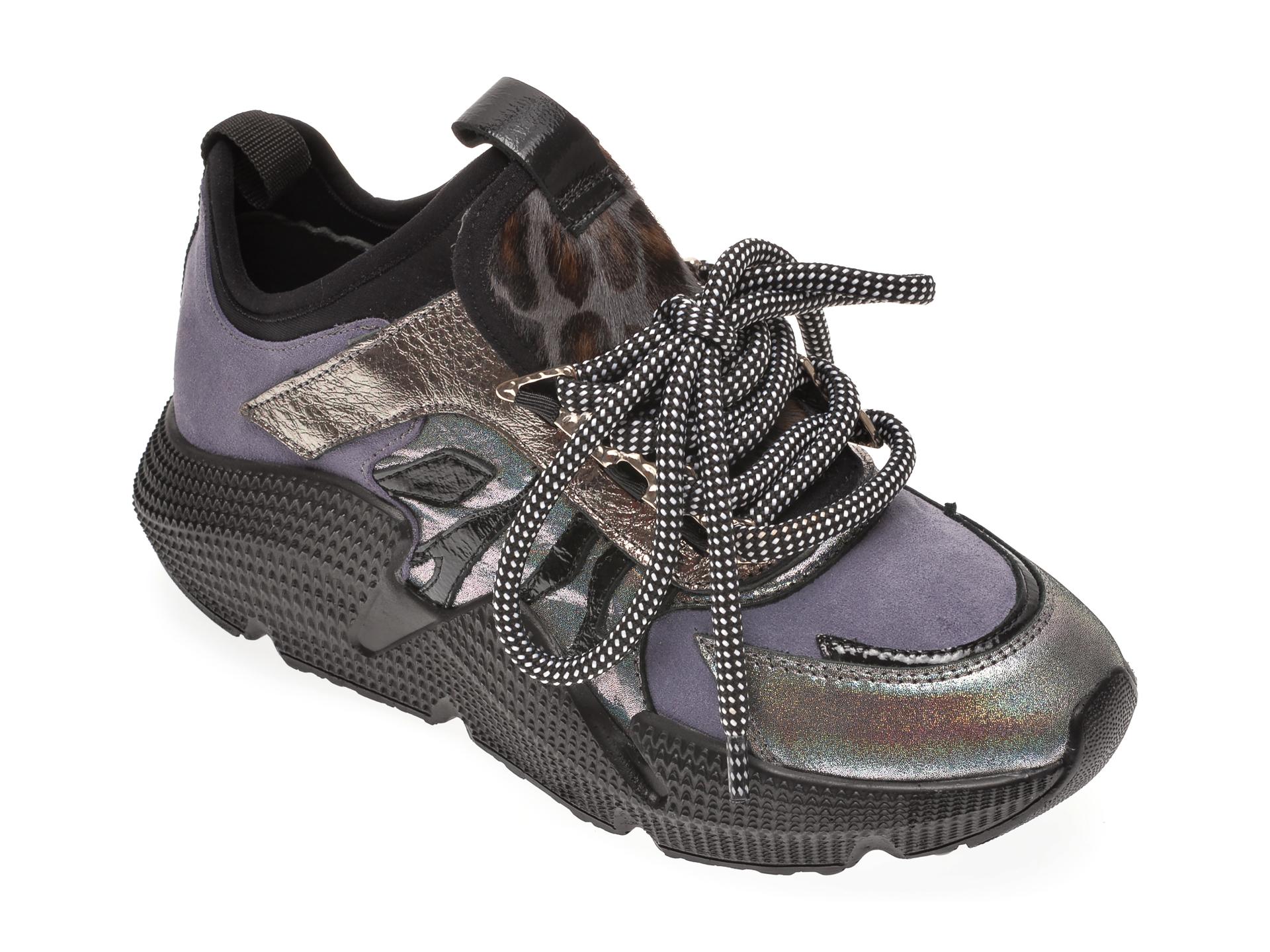 Pantofi sport FLAVIA PASSINI gri, 135P09, din material textil si piele naturala imagine