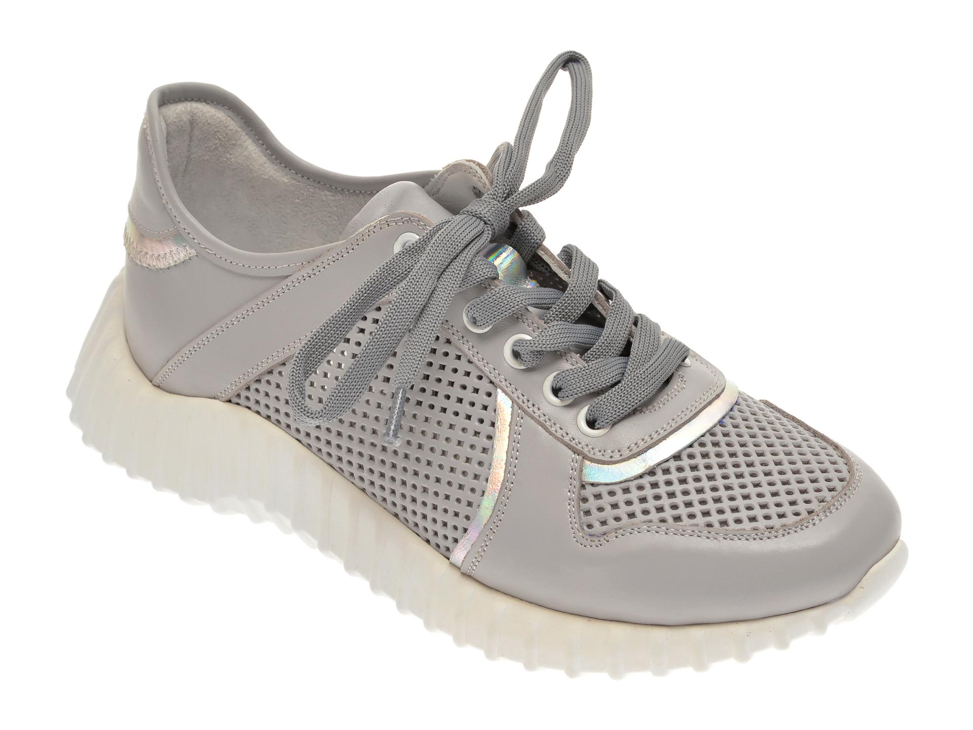 Pantofi sport FLAVIA PASSINI gri, 135P100, din piele naturala