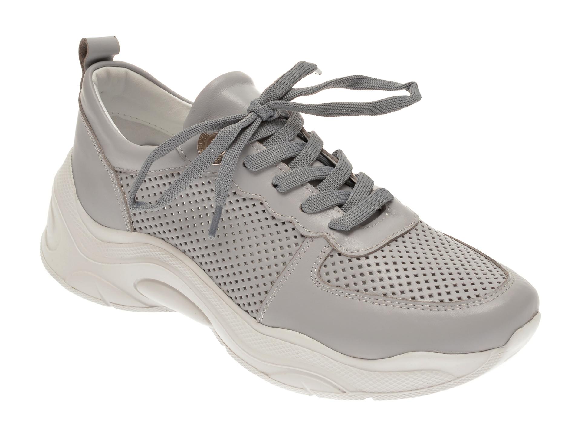 Pantofi sport FLAVIA PASSINI gri, 135P84, din piele naturala