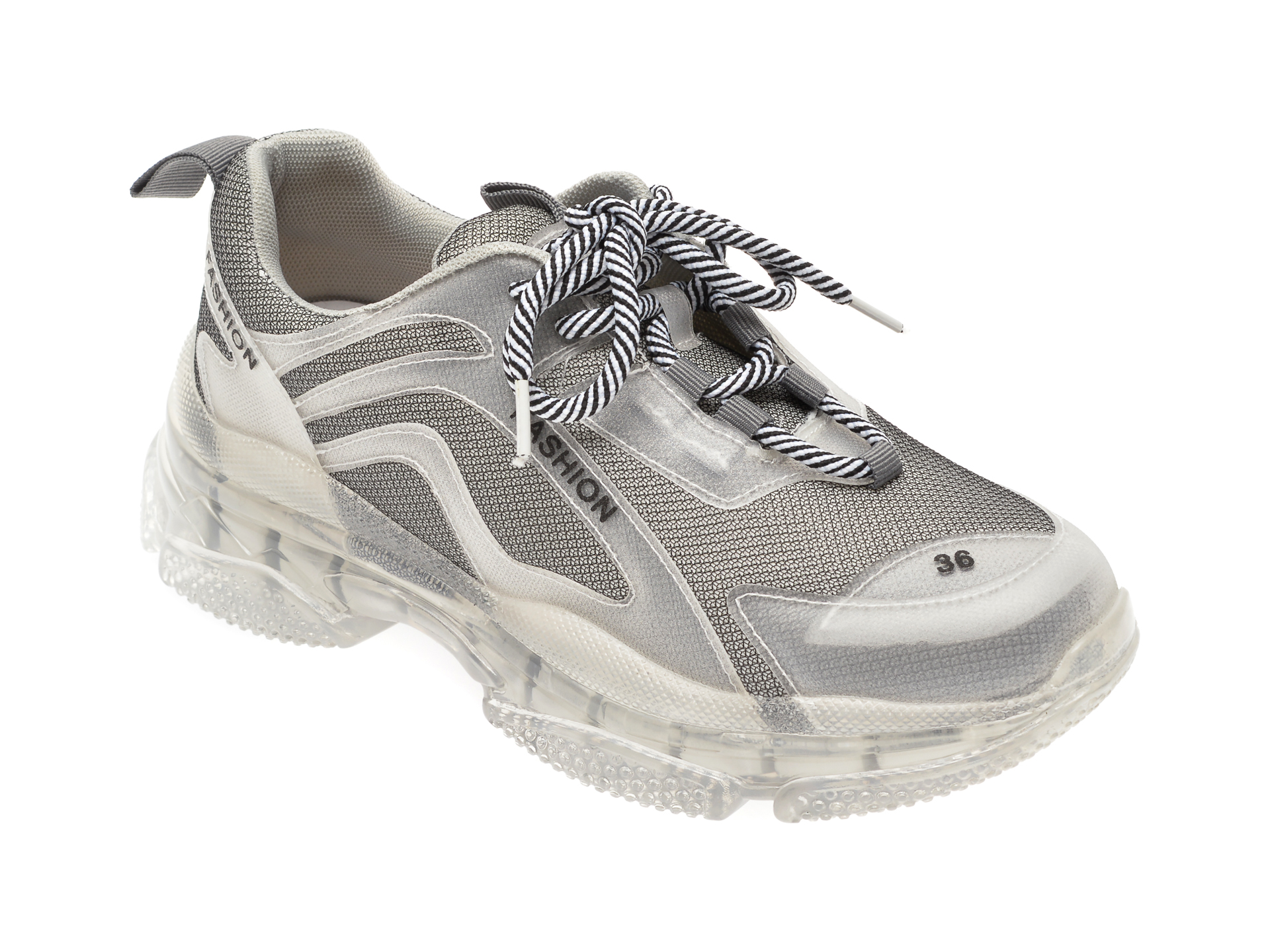 Pantofi sport FLAVIA PASSINI gri, L122, din material textil imagine