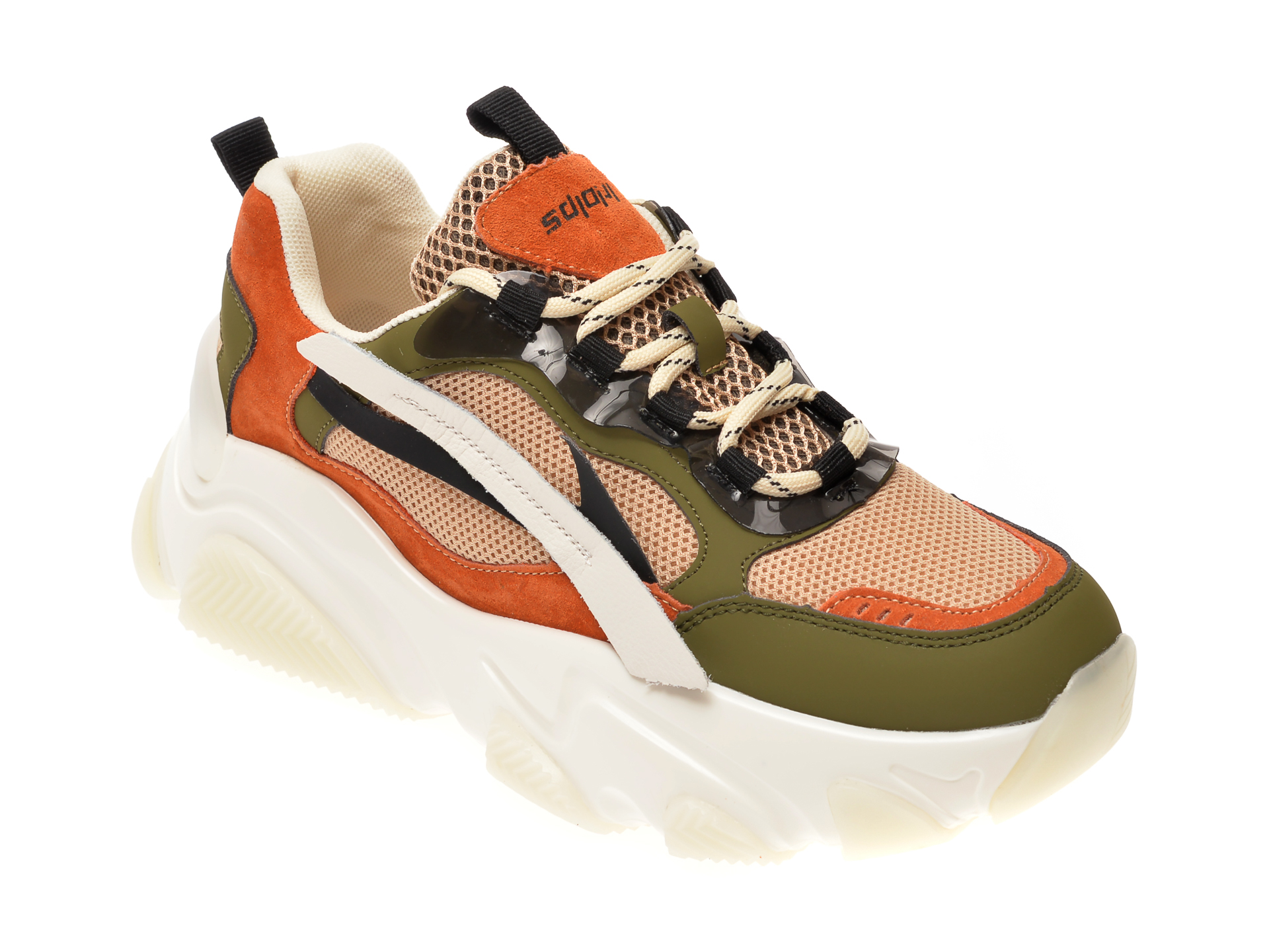 Pantofi sport FLAVIA PASSINI multicolor, 8051, din material textil si piele naturala