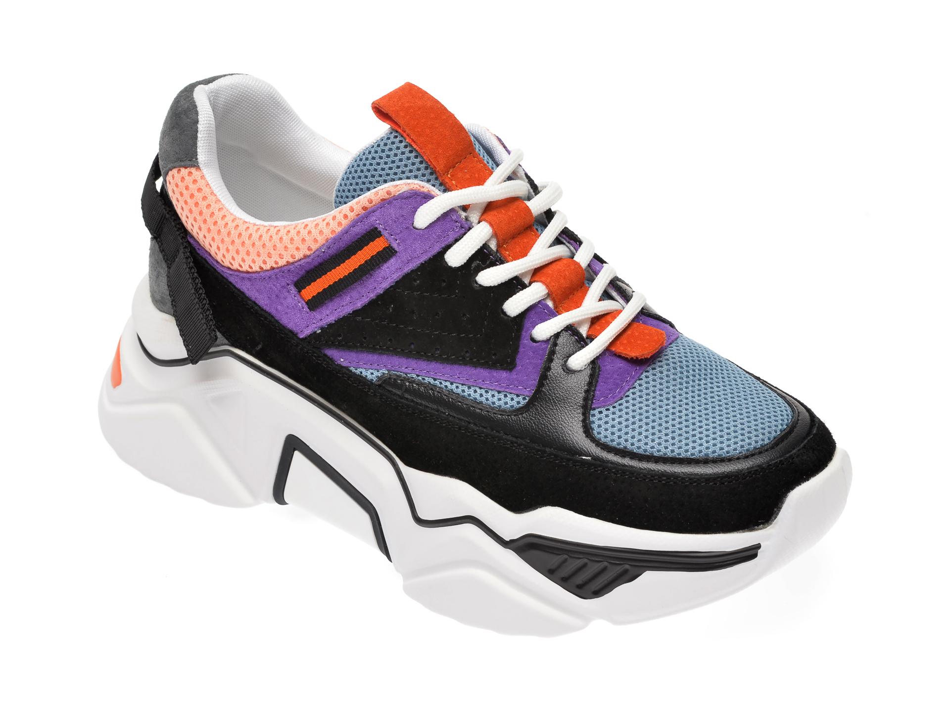 Pantofi sport FLAVIA PASSINI multicolor, 90002, din material textil si piele naturala imagine