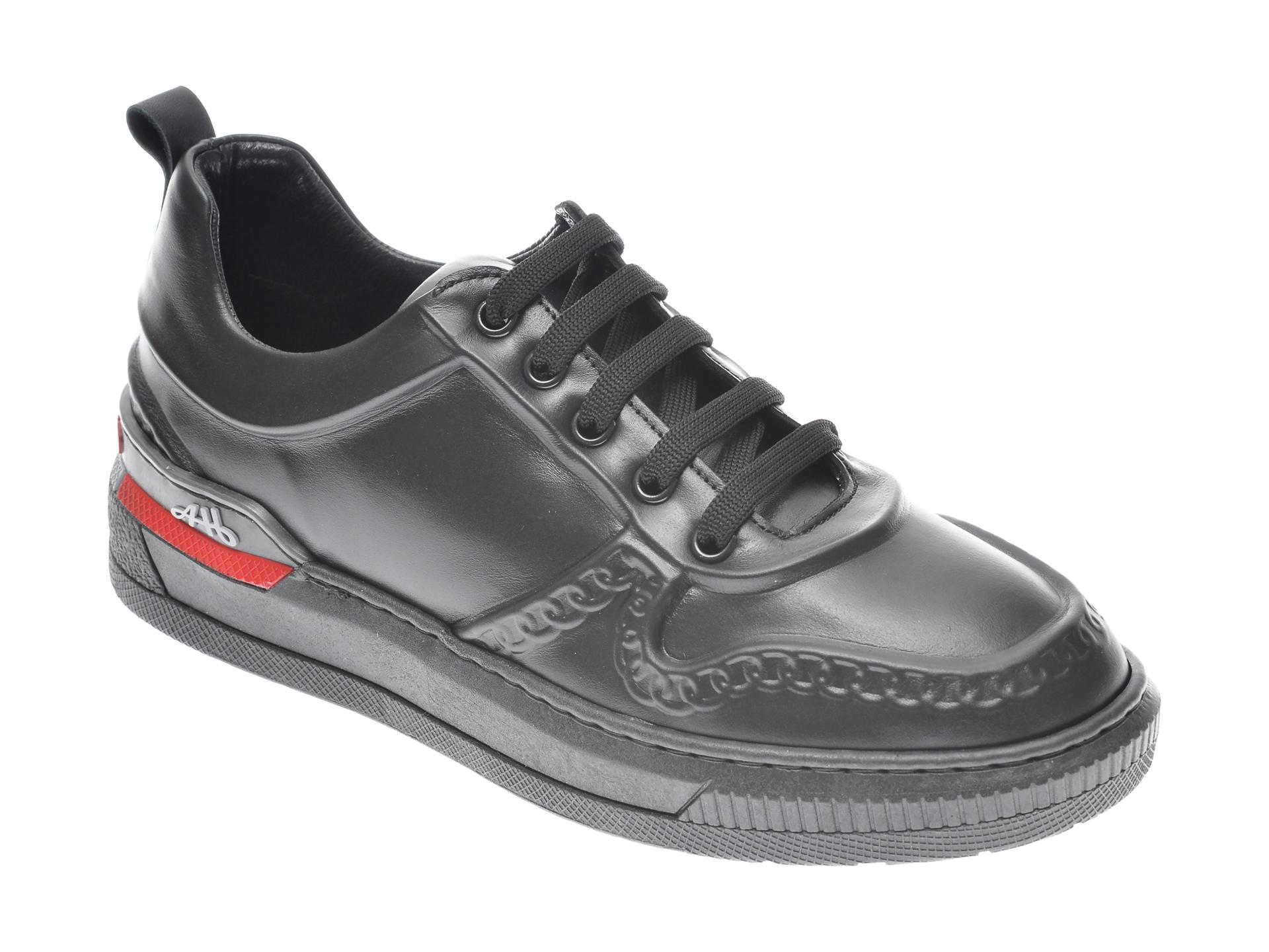 Pantofi sport FLAVIA PASSINI negri, 054NETR, din piele naturala imagine