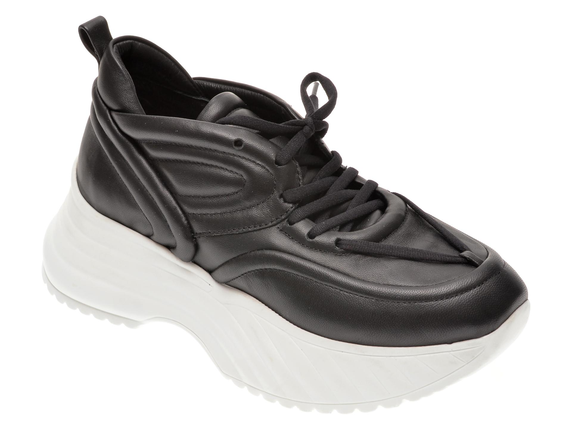 Pantofi sport FLAVIA PASSINI negri, 135P104, din piele naturala imagine