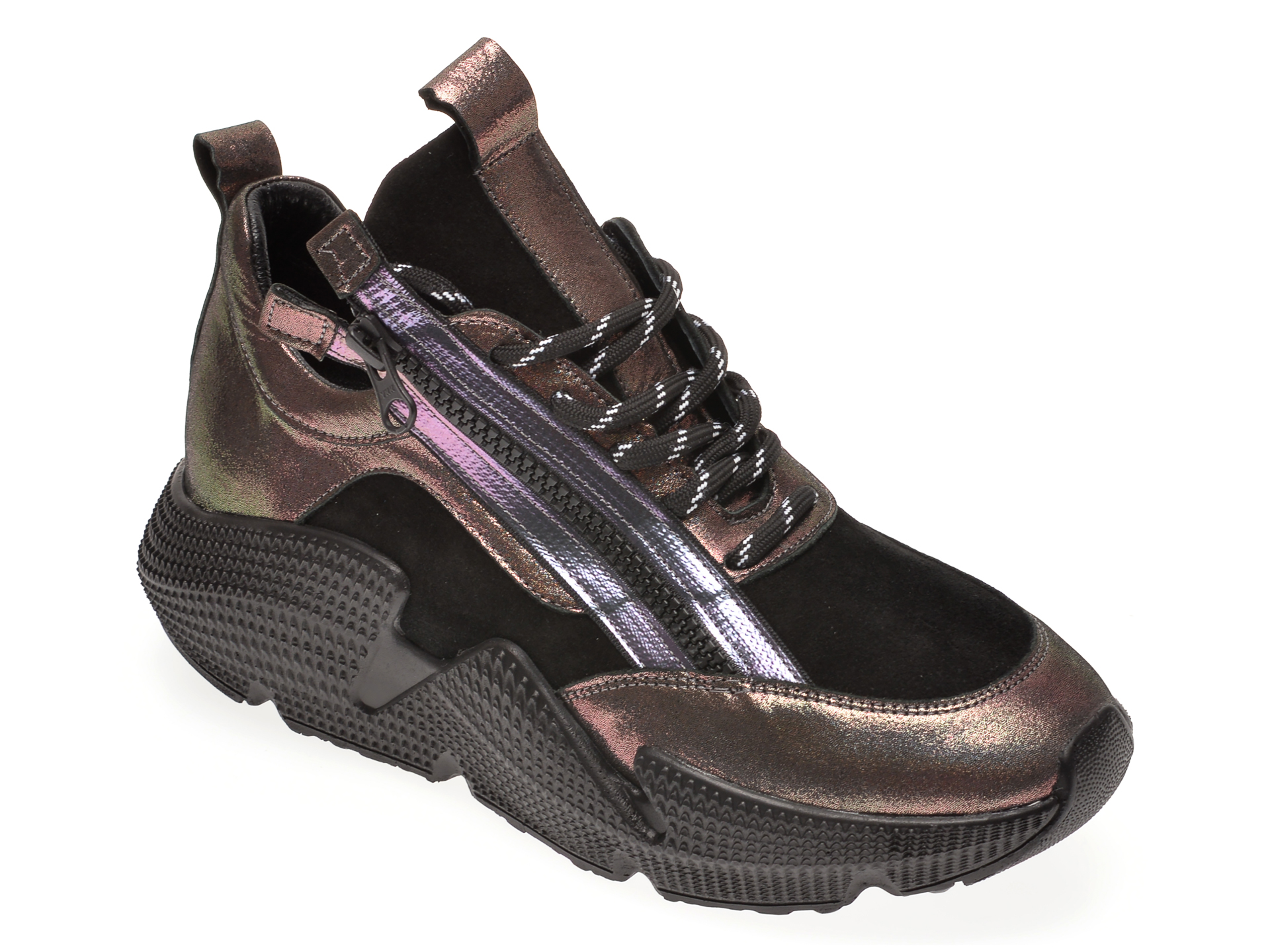 Pantofi sport FLAVIA PASSINI negri, 135P10, din piele naturala