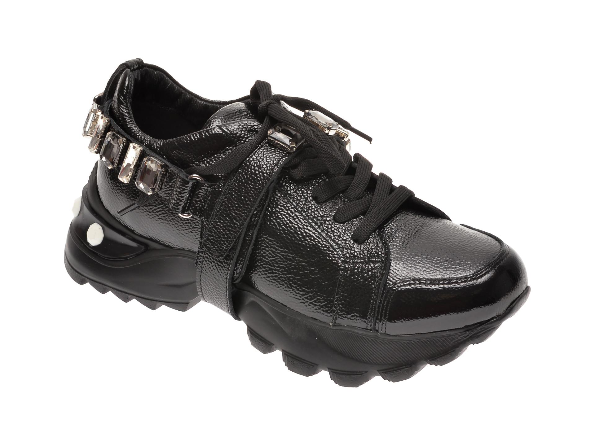 Pantofi sport FLAVIA PASSINI negri, 135P28, din piele naturala New