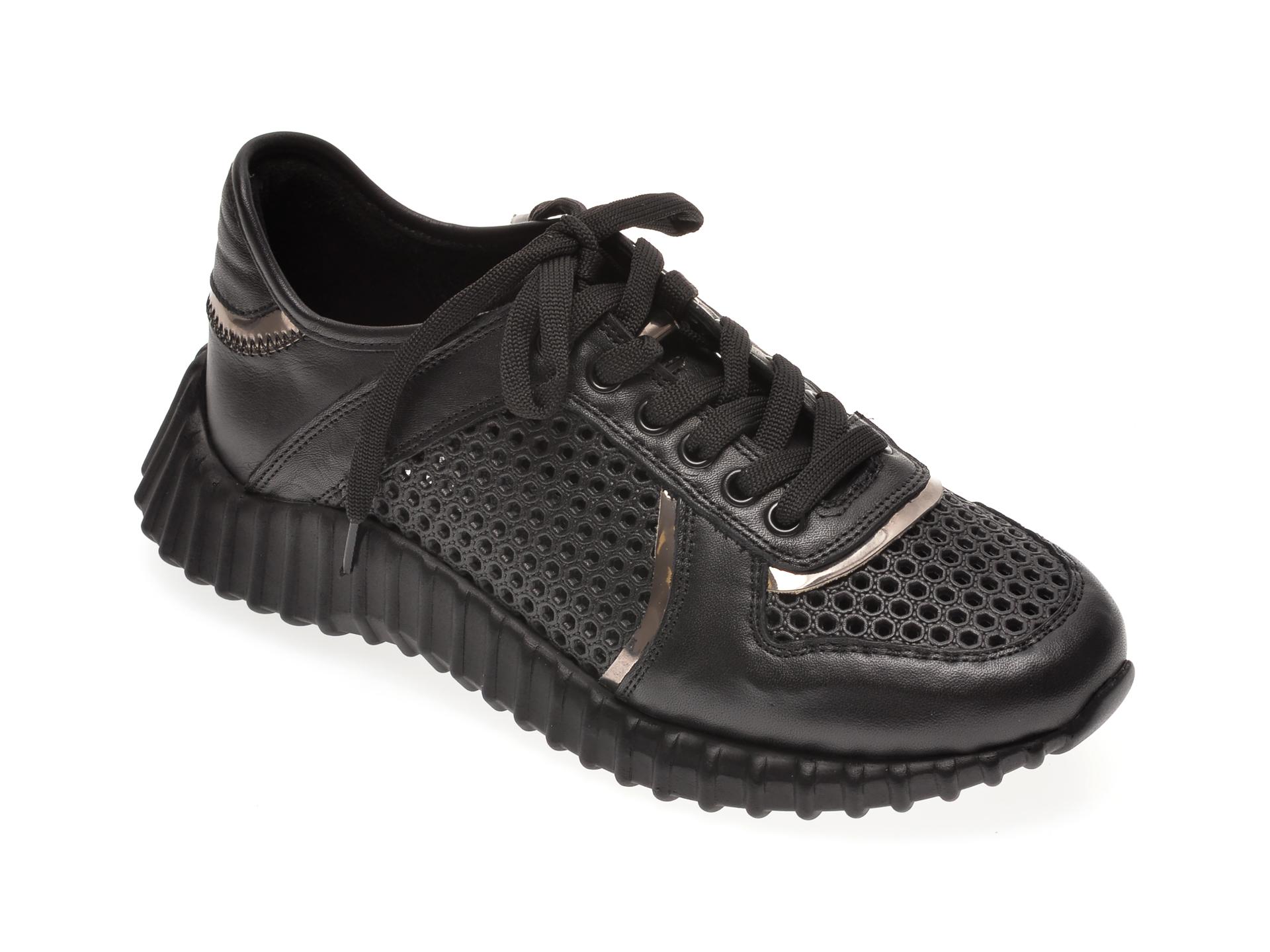 Pantofi sport FLAVIA PASSINI negri, 135P32, din piele naturala