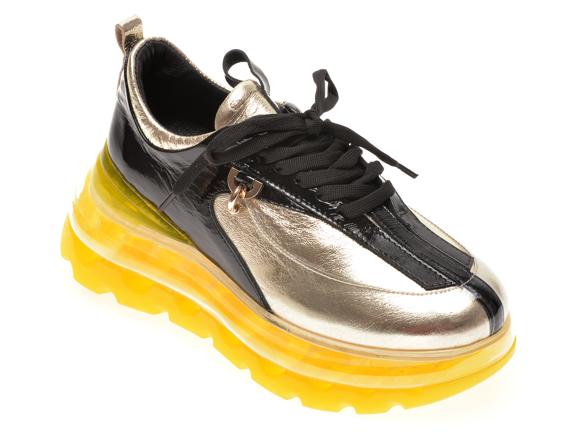 Pantofi sport FLAVIA PASSINI negri, 135P48, din piele naturala