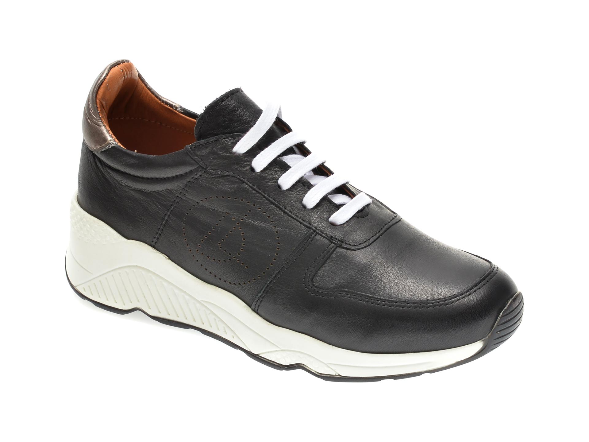 Pantofi sport FLAVIA PASSINI negri, 2771, din piele naturala imagine