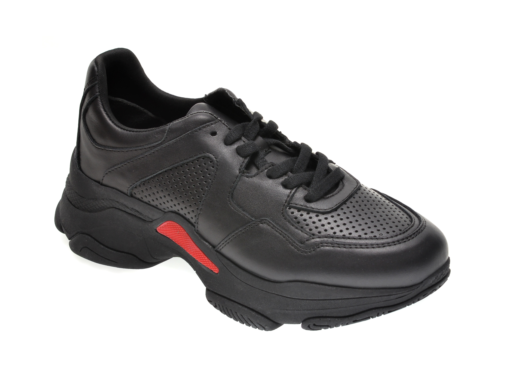 Pantofi sport FLAVIA PASSINI negri, 2806, din piele naturala imagine