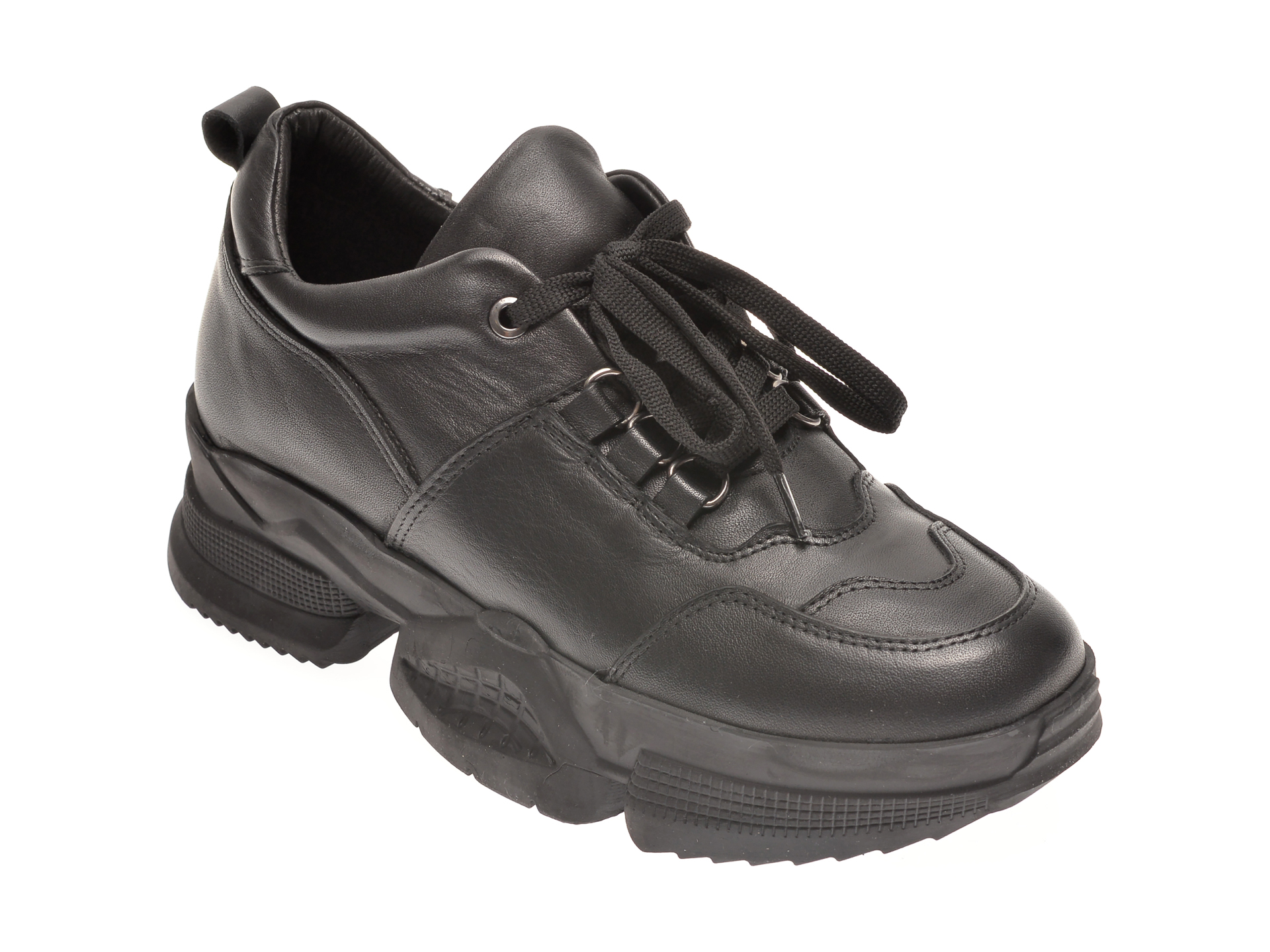 Pantofi sport FLAVIA PASSINI negri, 471618, din piele naturala imagine