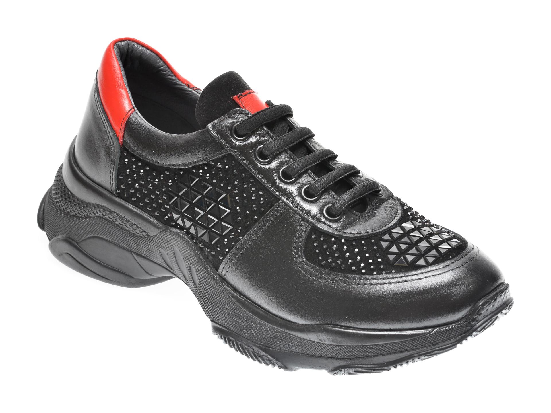 Pantofi sport FLAVIA PASSINI negri, 5212701, din piele naturala imagine