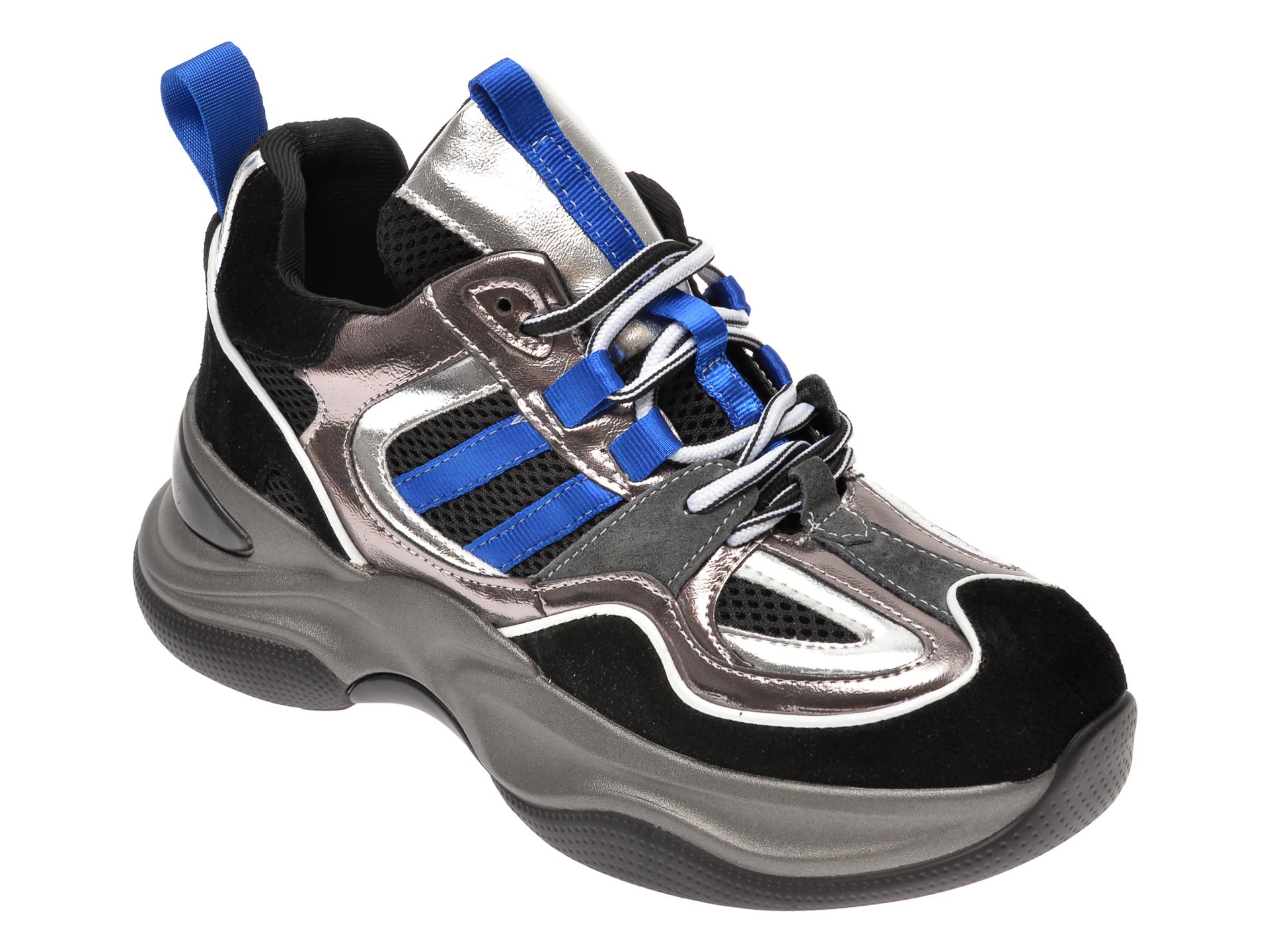 Pantofi sport FLAVIA PASSINI negri, 638, din material textil si piele naturala