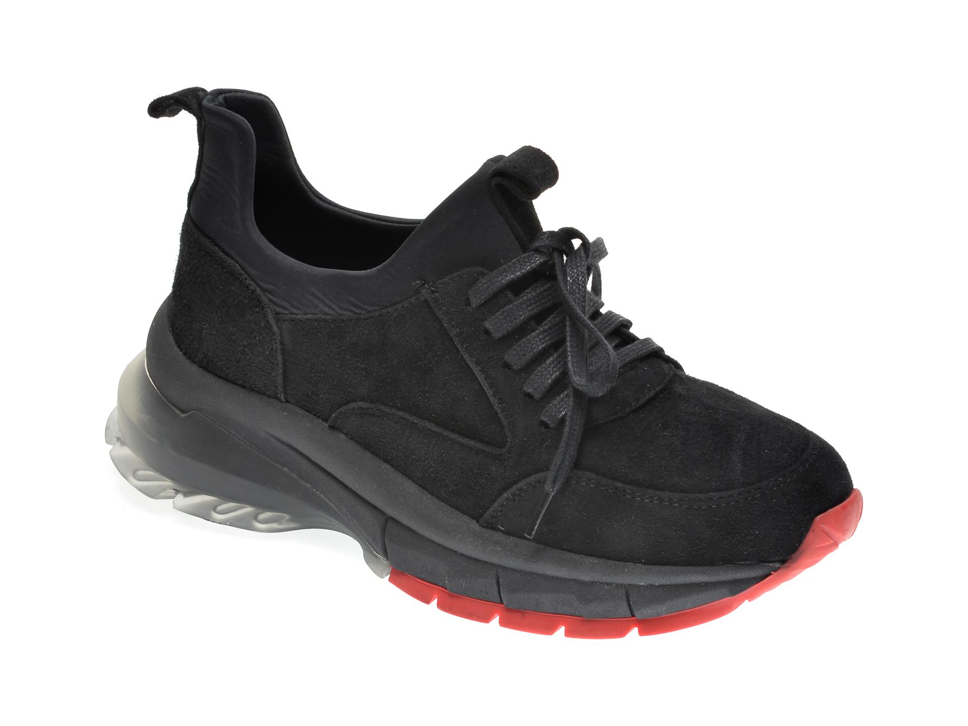 Pantofi sport FLAVIA PASSINI negri, 711, din nabuc imagine