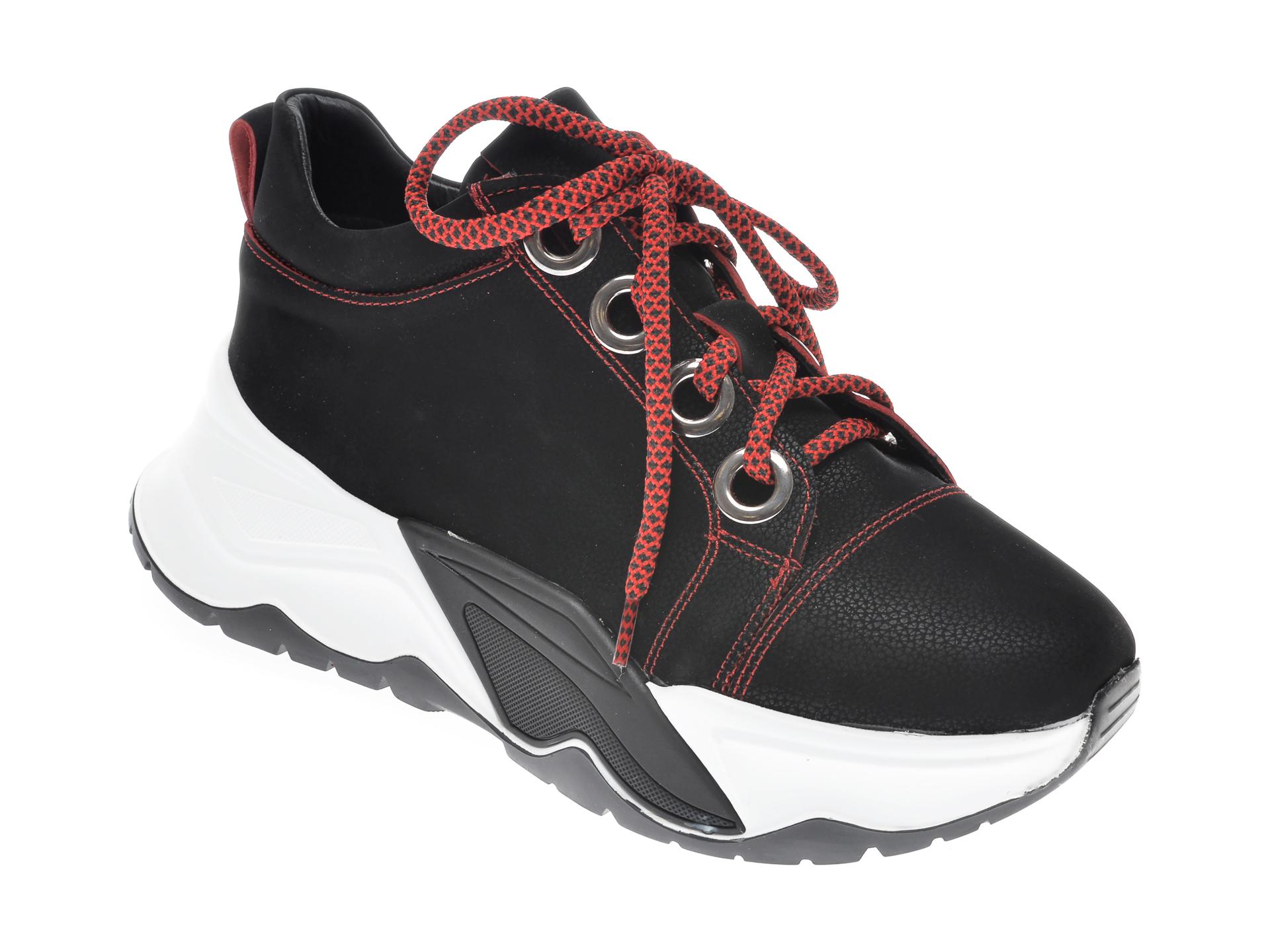 Pantofi sport FLAVIA PASSINI negri, 7435016, din nabuc imagine