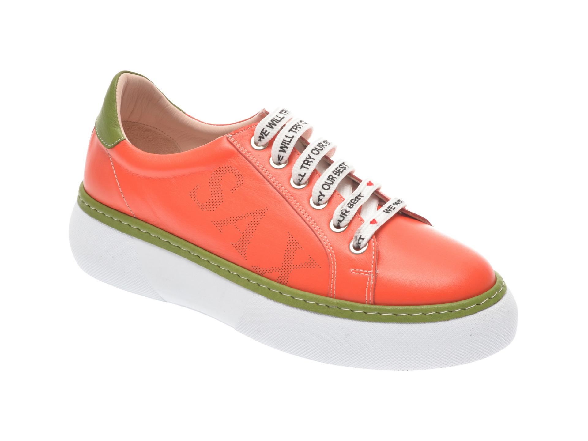 Pantofi sport FLAVIA PASSINI portocalii, 826409, din piele naturala