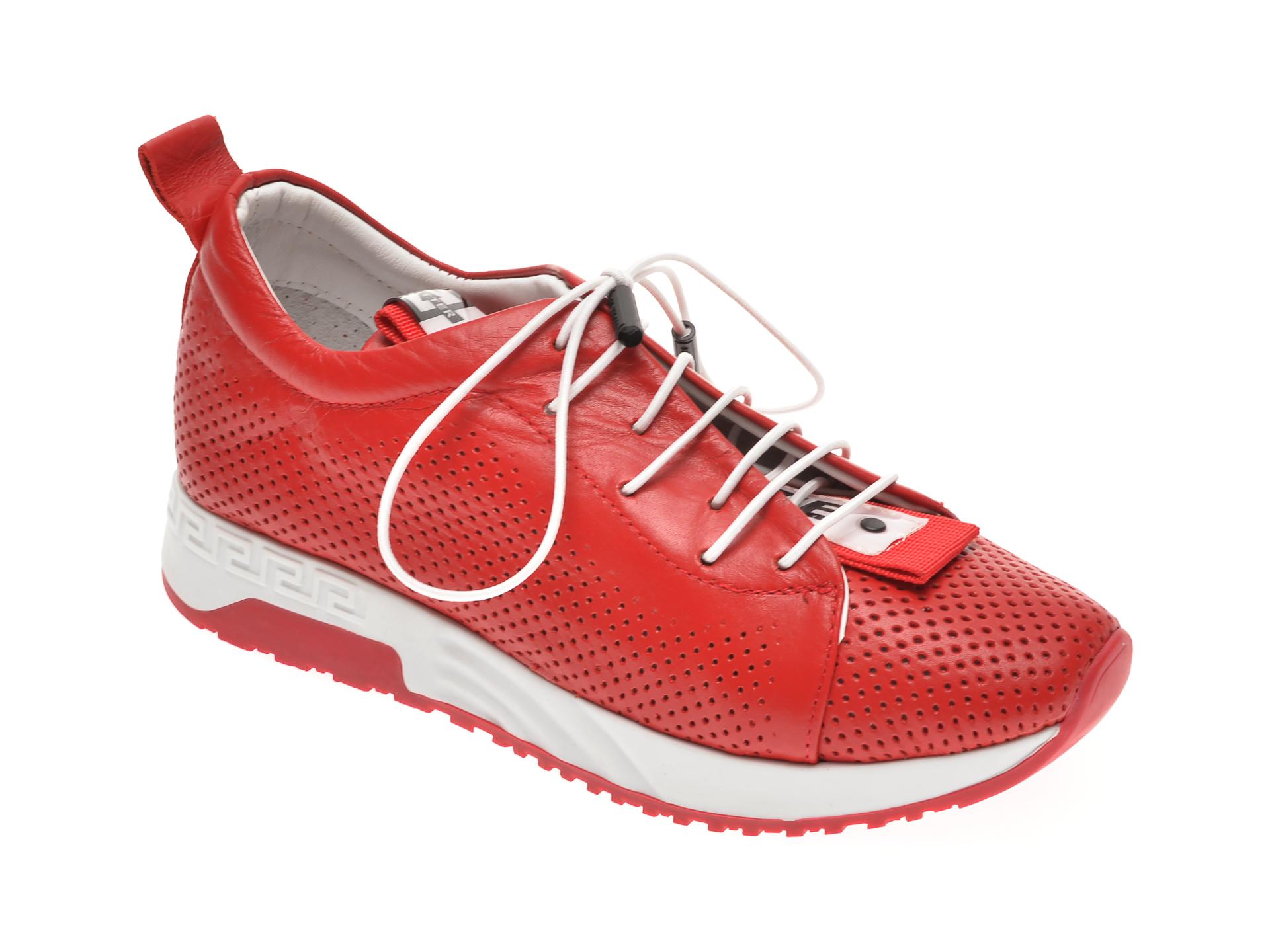 Pantofi sport FLAVIA PASSINI rosii, 022607, din piele naturala