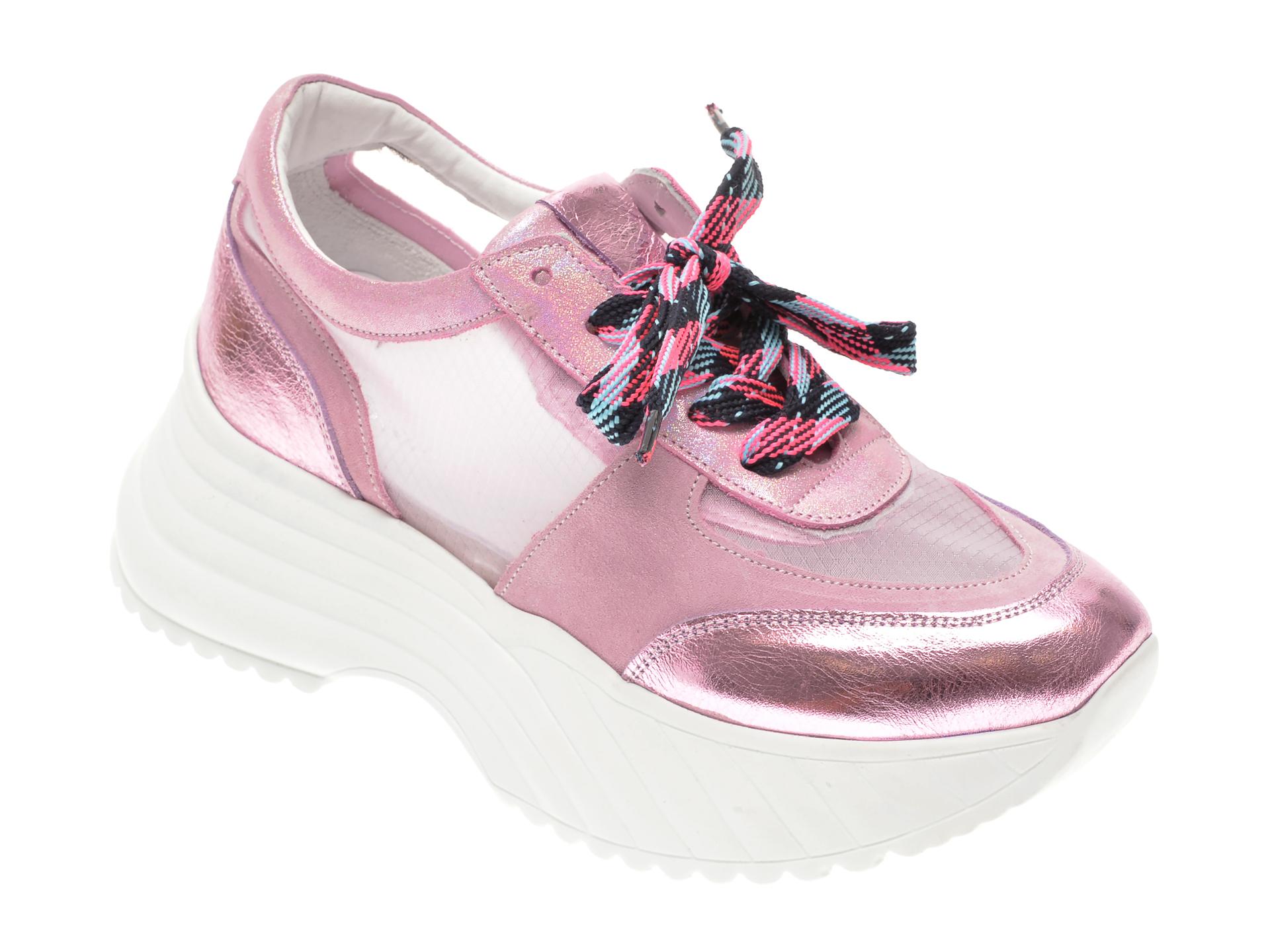 Pantofi sport FLAVIA PASSINI roz, 135P78, din piele naturala imagine