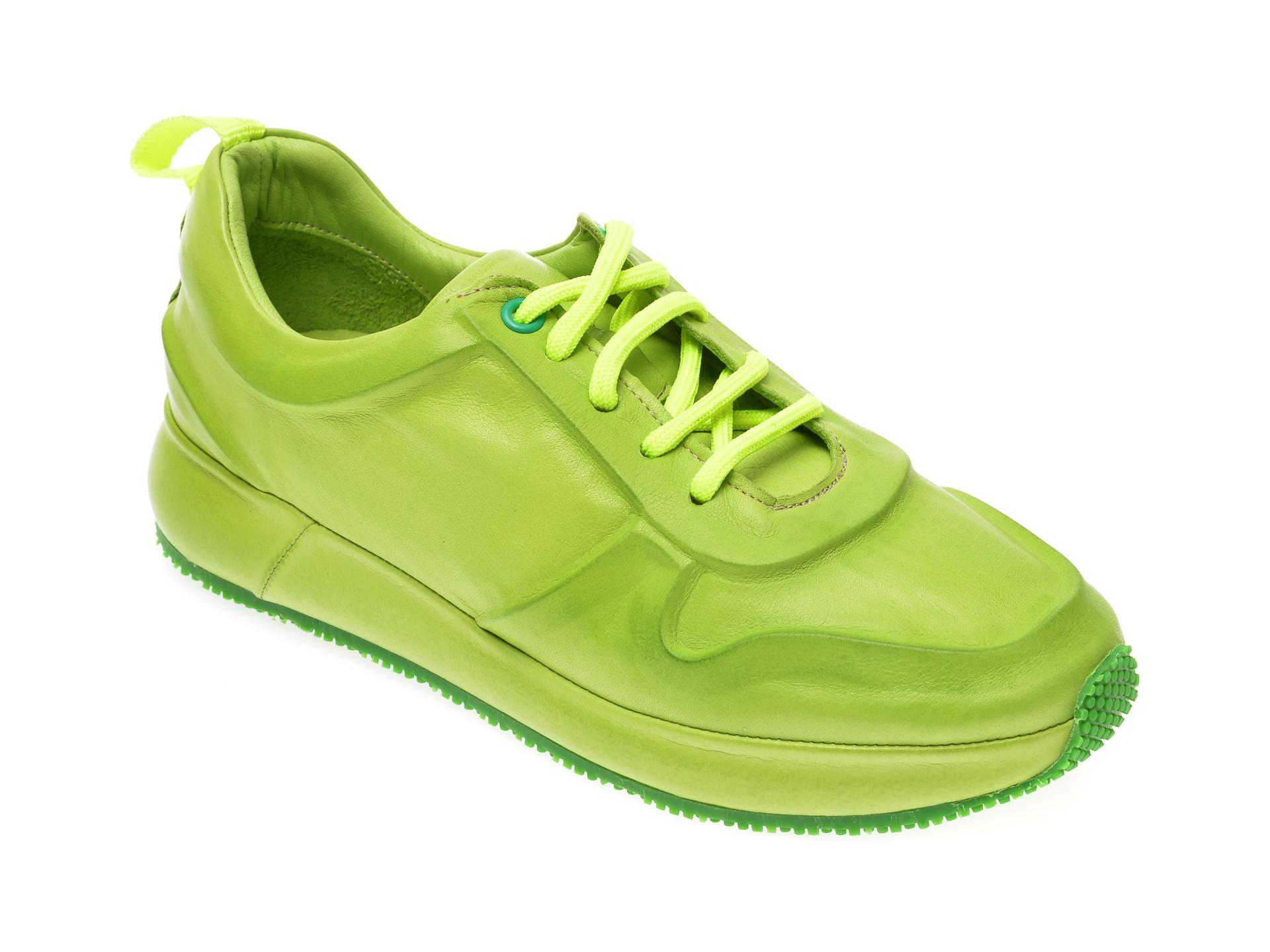 Pantofi sport FLAVIA PASSINI verzi, 1919019, din piele naturala