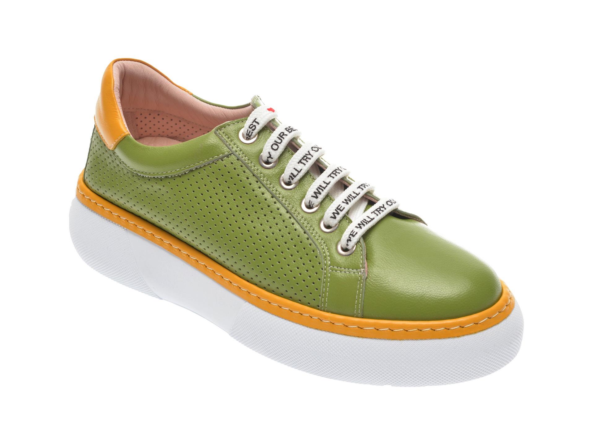 Pantofi sport FLAVIA PASSINI verzi, 826400, din piele naturala imagine