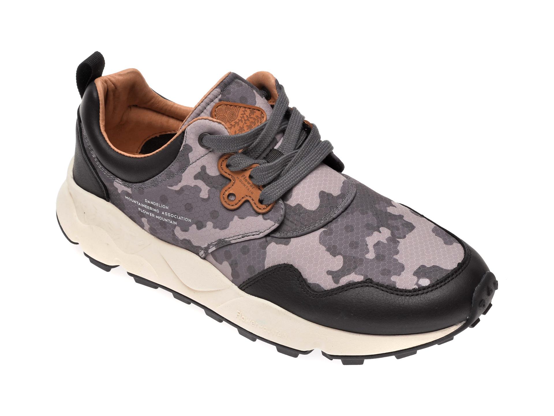 Pantofi sport FLOWER MOUNTAIN gri, 2014770, din material textil imagine