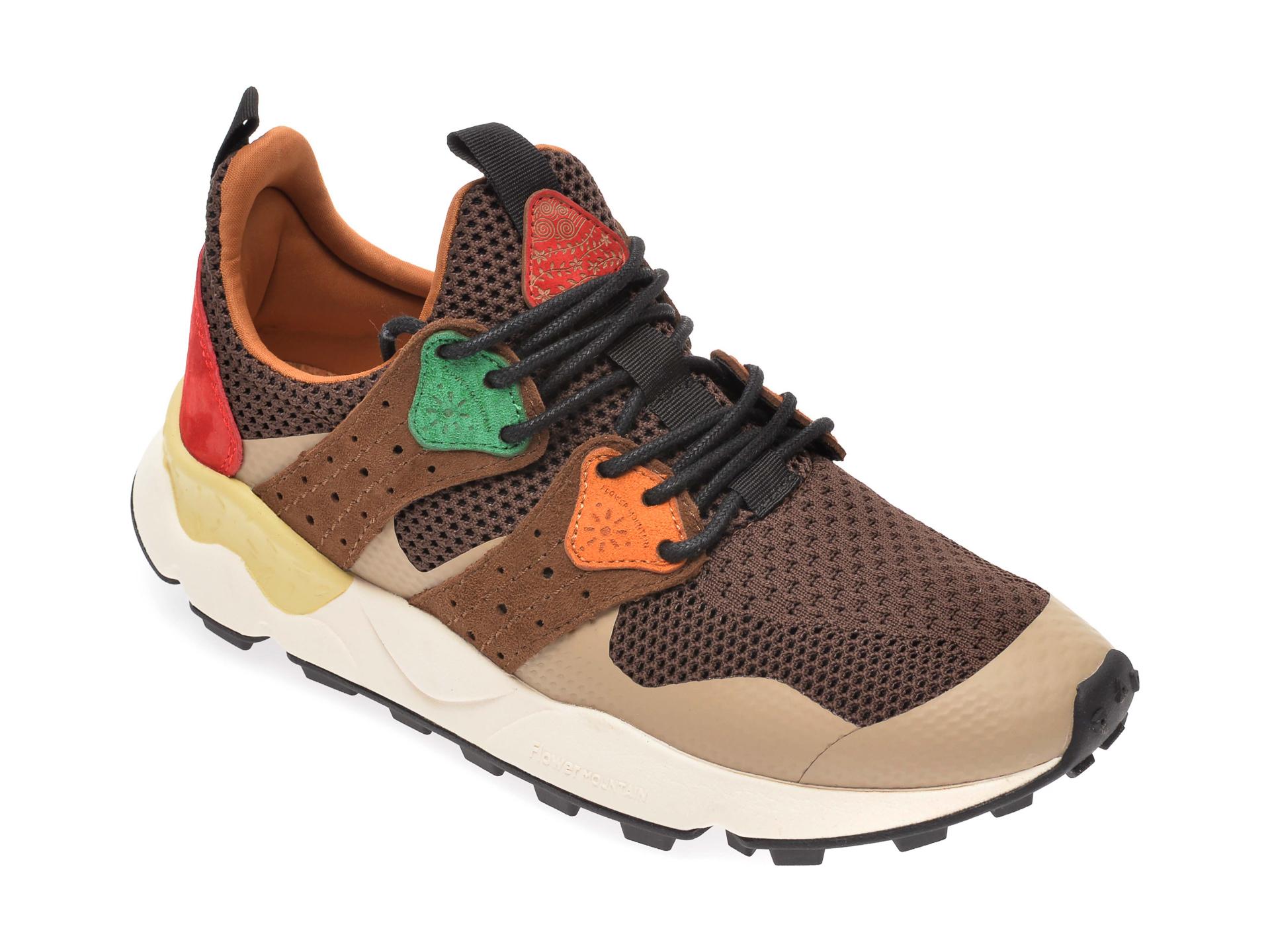 Pantofi sport FLOWER MOUNTAIN maro, 2014760, din material textil imagine