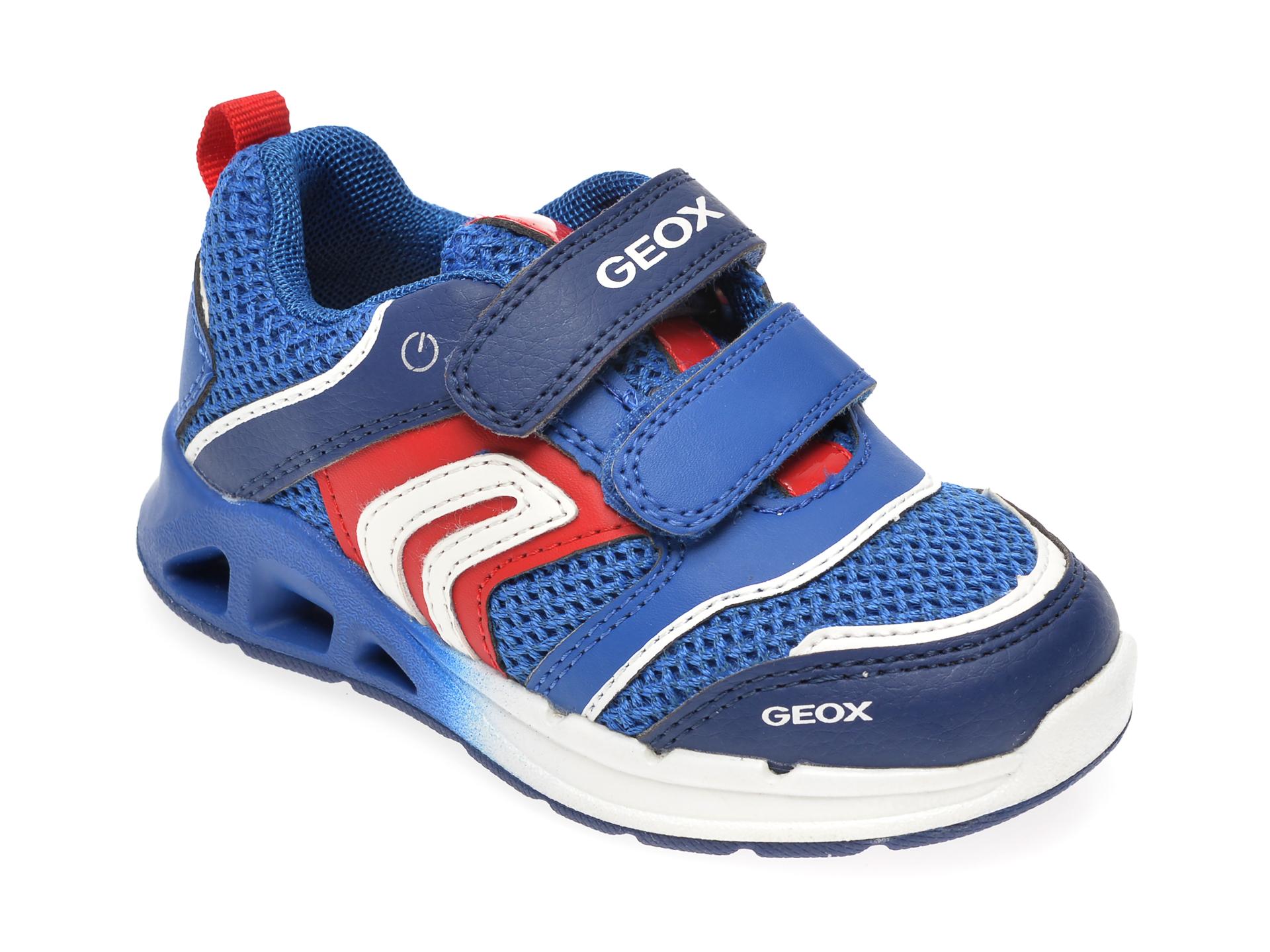 Pantofi sport GEOX albastri, B022PA, din piele ecologica New