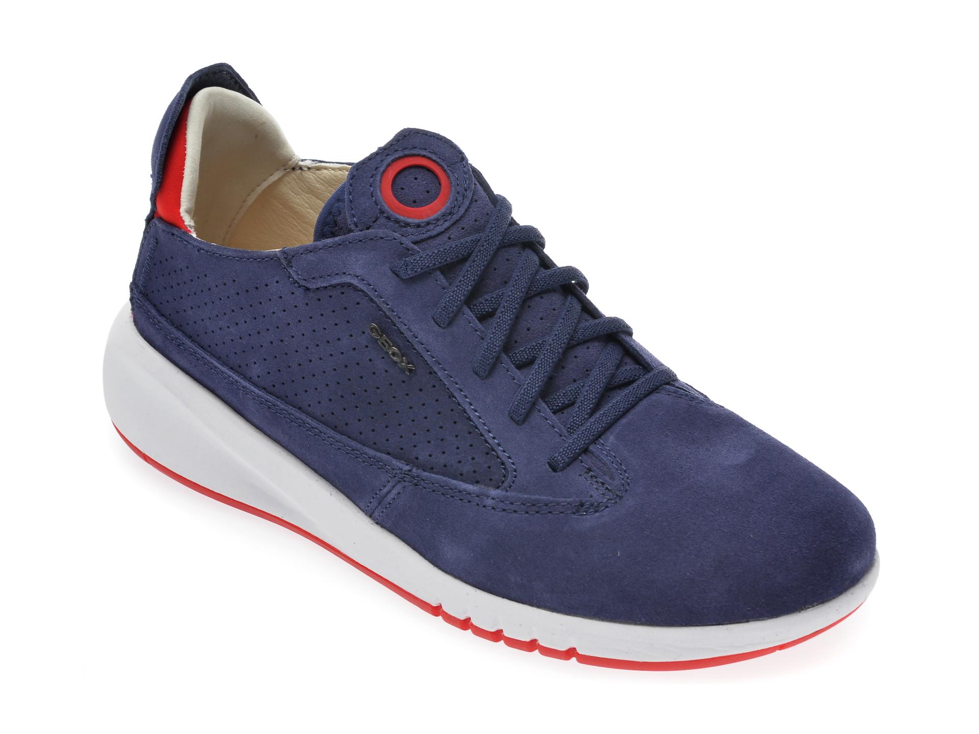 Pantofi sport GEOX albastri, D02HNA, din piele intoarsa