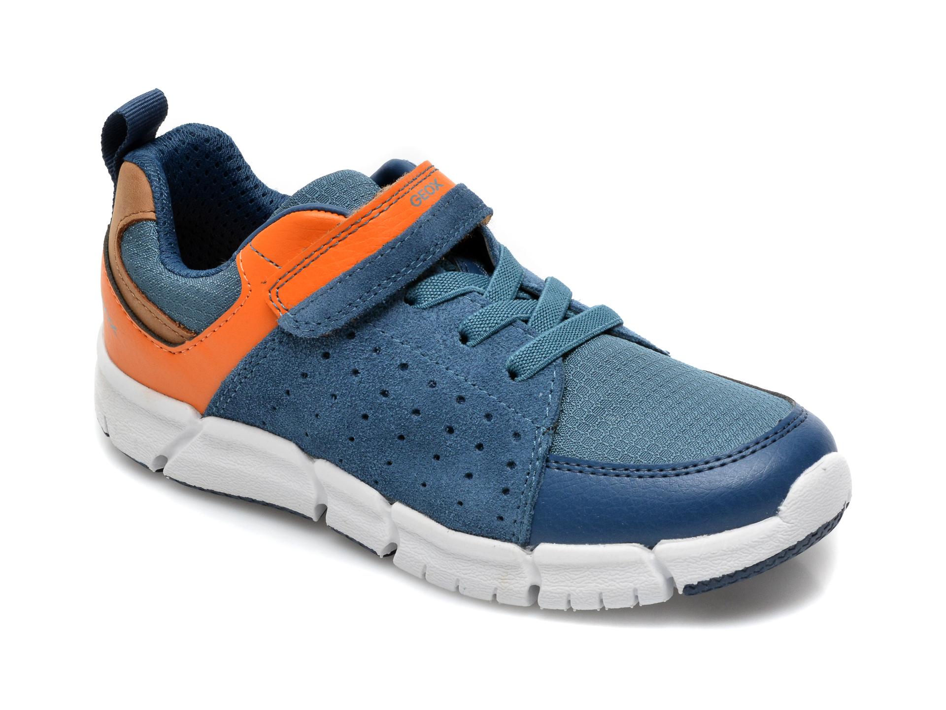 Pantofi sport GEOX albastri, J159BD, din material textil si piele naturala
